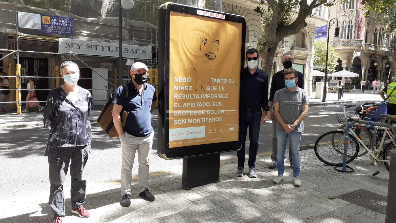 Imatge de la presentació de la mostra, aquest divendres a Palma