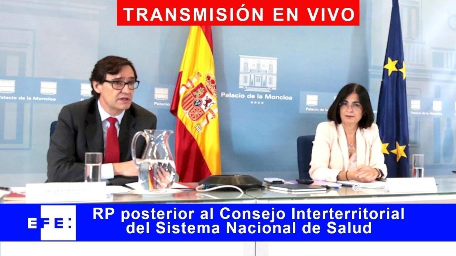 Roda de premsa posterior al Consell Interterritorial de Salut