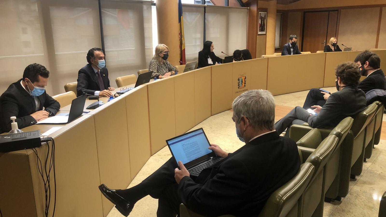 La sessió del consell de comú de la Massana. / COMÚ DE LA MASSANA