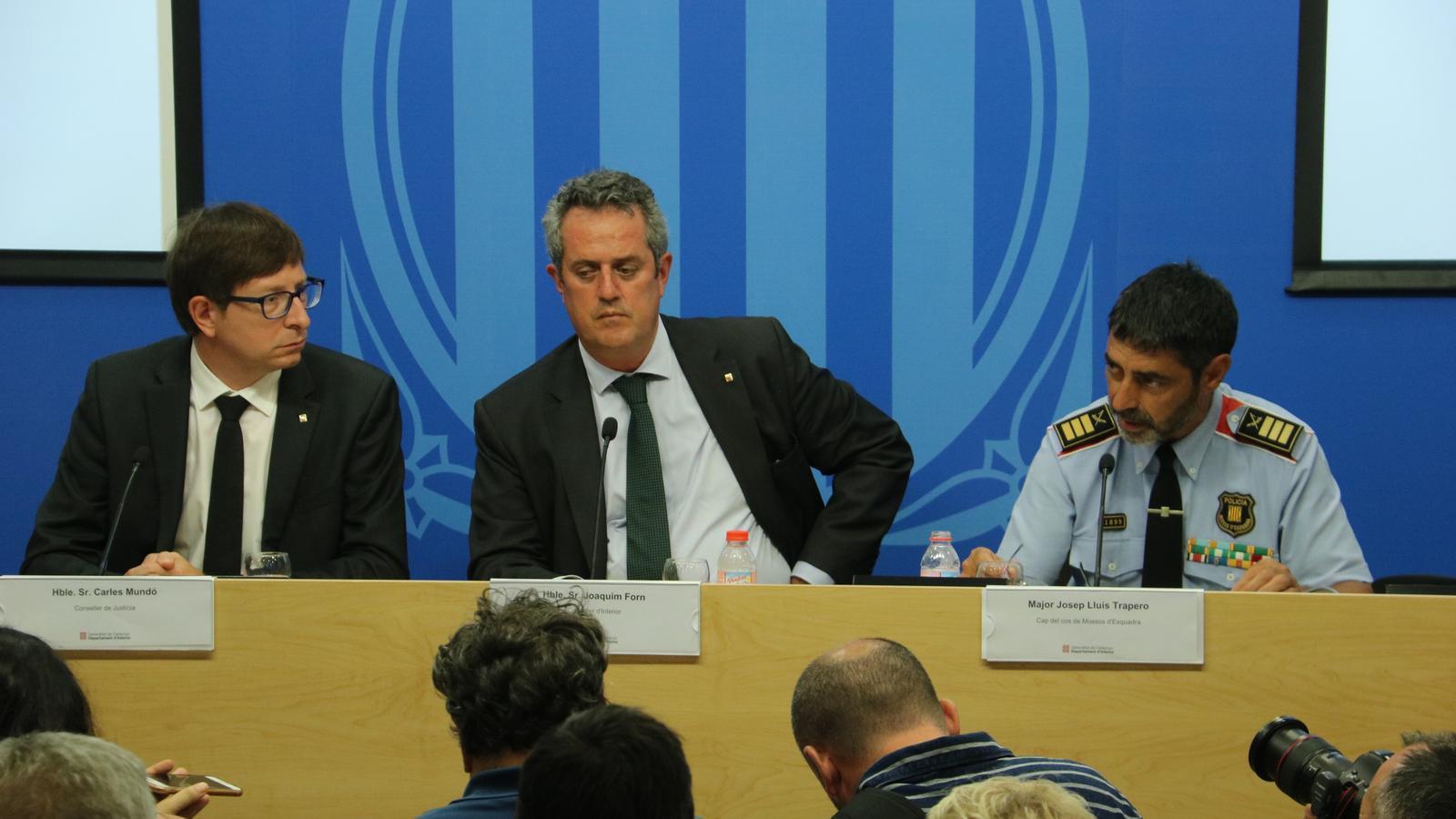 Roda de premsa Trapero sobre l'atac a la Rambla