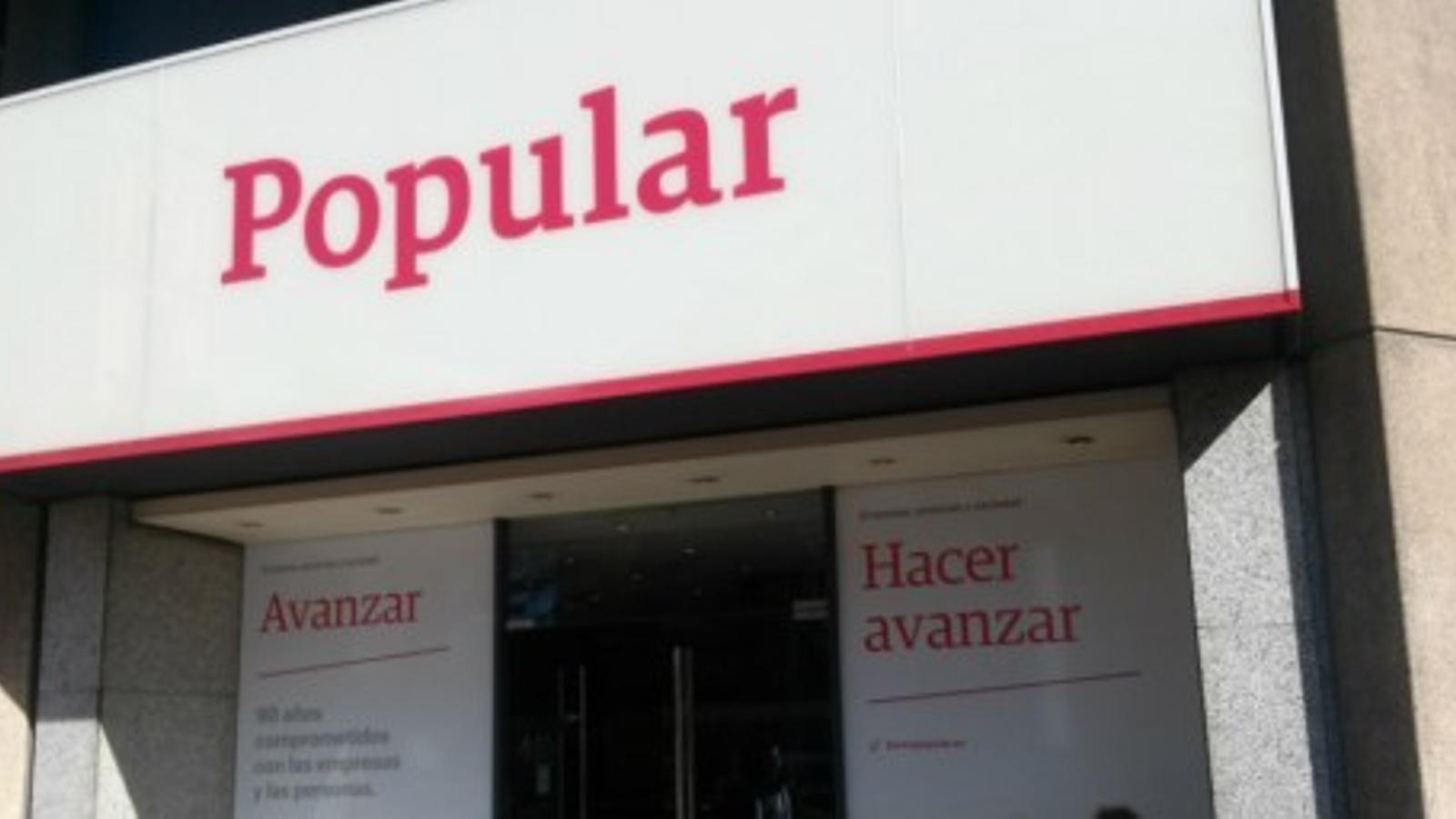 El popular admet errors als seus comptes i es mantindr en for Oficinas banco popular barcelona