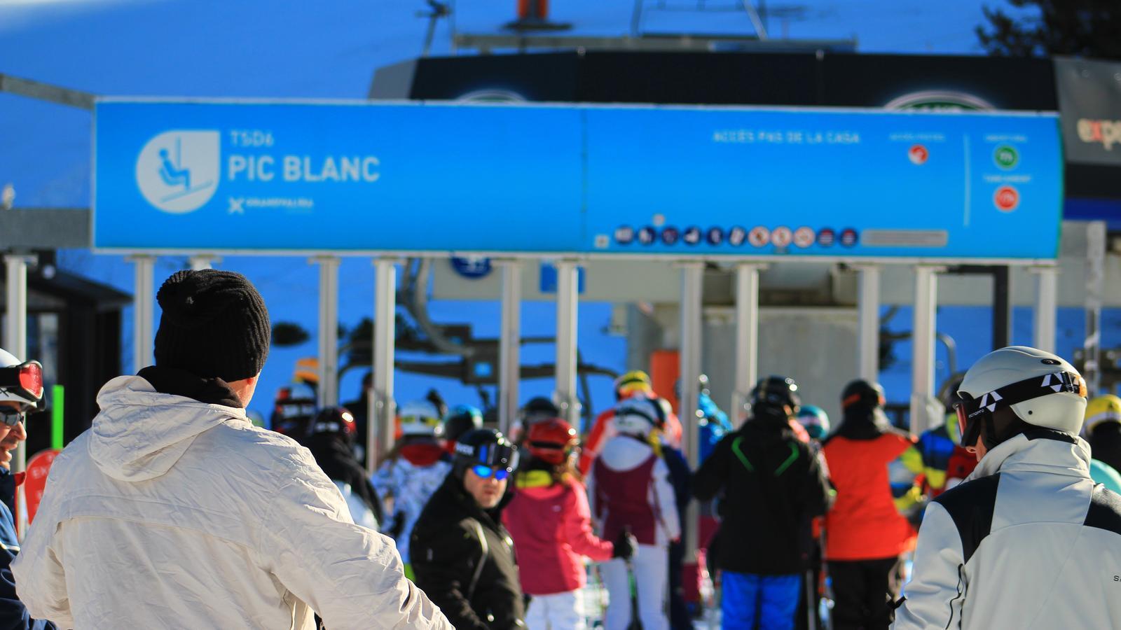 Esquiadors a Grandvalira en una imatge d'aquest dijous. / Grandvalira