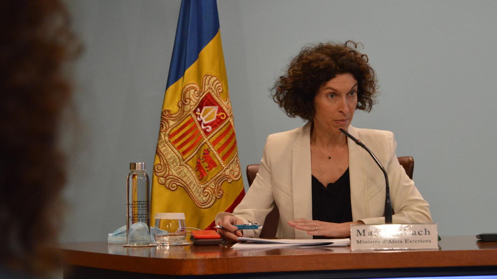 La ministra d'Afers Exteriors, Maria Ubach. / M. F. (ANA)