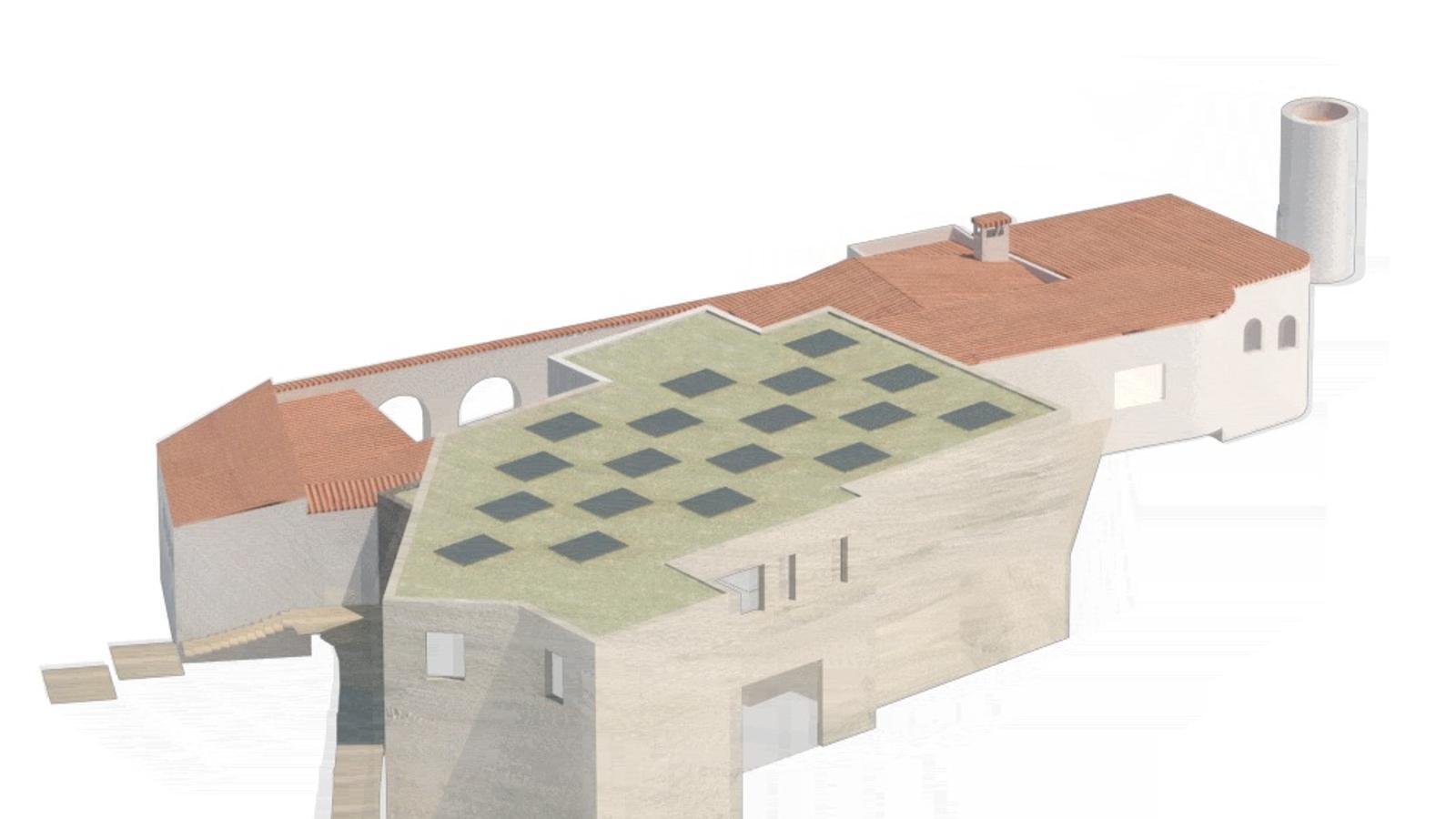 Maqueta virtual de com quedarà el complex de la Fundació El Bulli