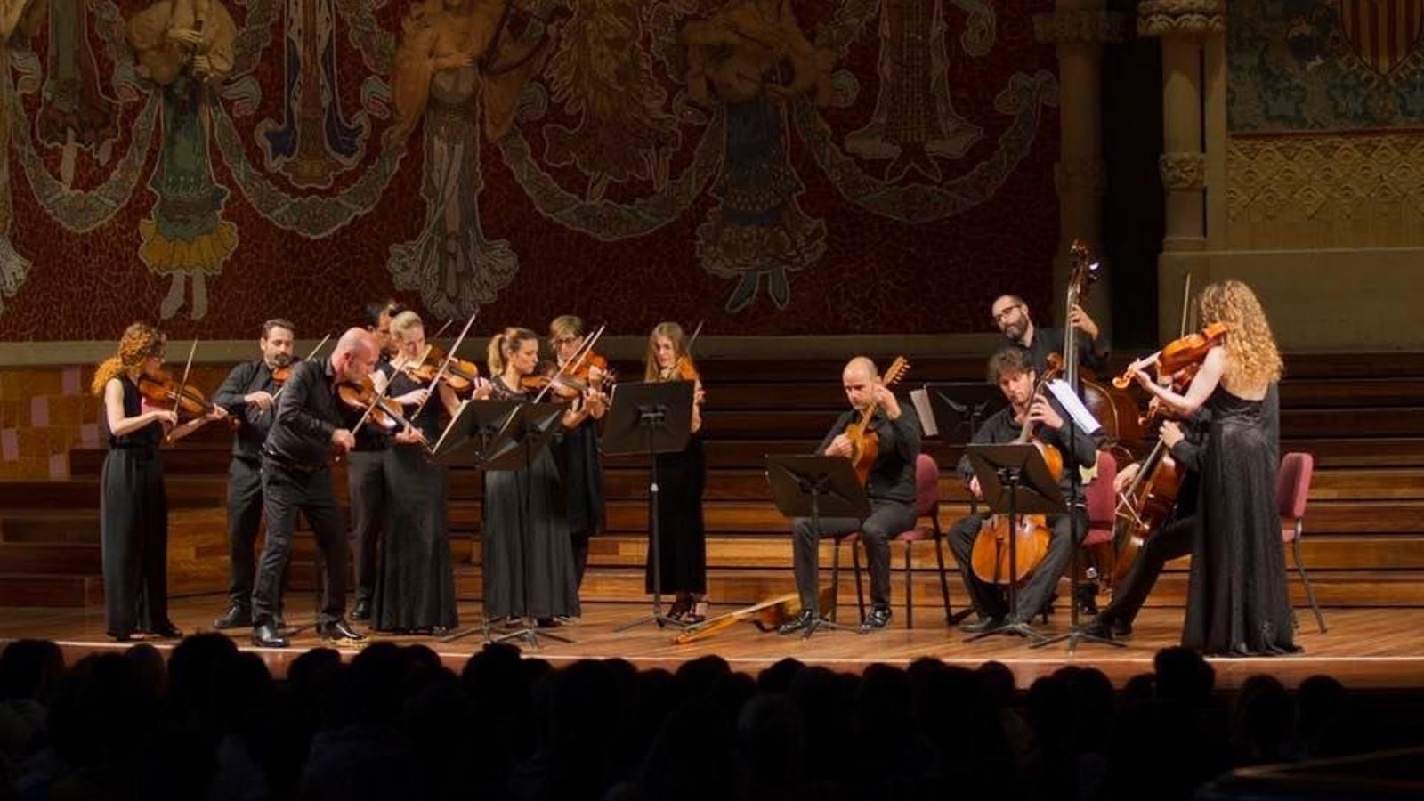 L'Orquestra Barroca de Barcelona en una actuació al Palau de la Música Catalana