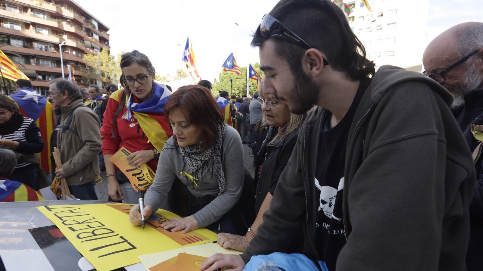 11-N: una gran mobilització per la llibertat dels presos polítics