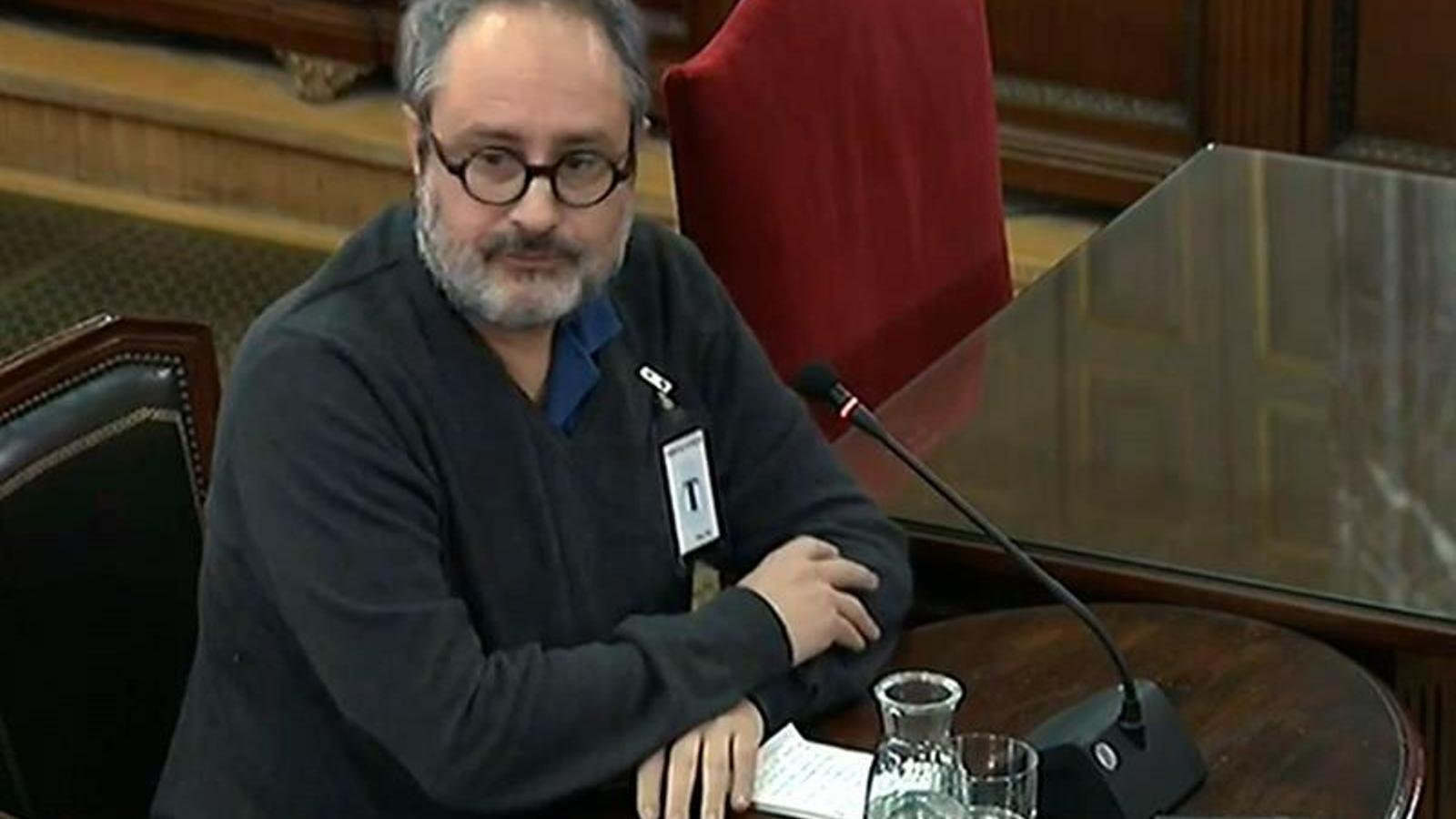 L'exdiputat de la CUP Antonio Baños al judici del Procés