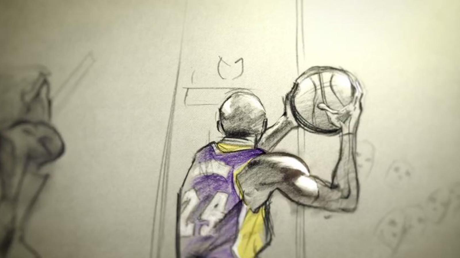 'Dear Basketball', el curt d'animació amb el que Kobe Bryant ha guanyat un Oscar