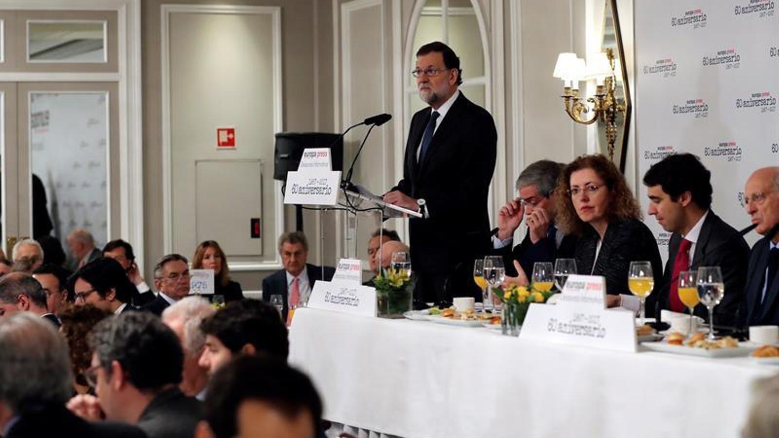 Esmorzar informatiu amb Mariano Rajoy / EFE