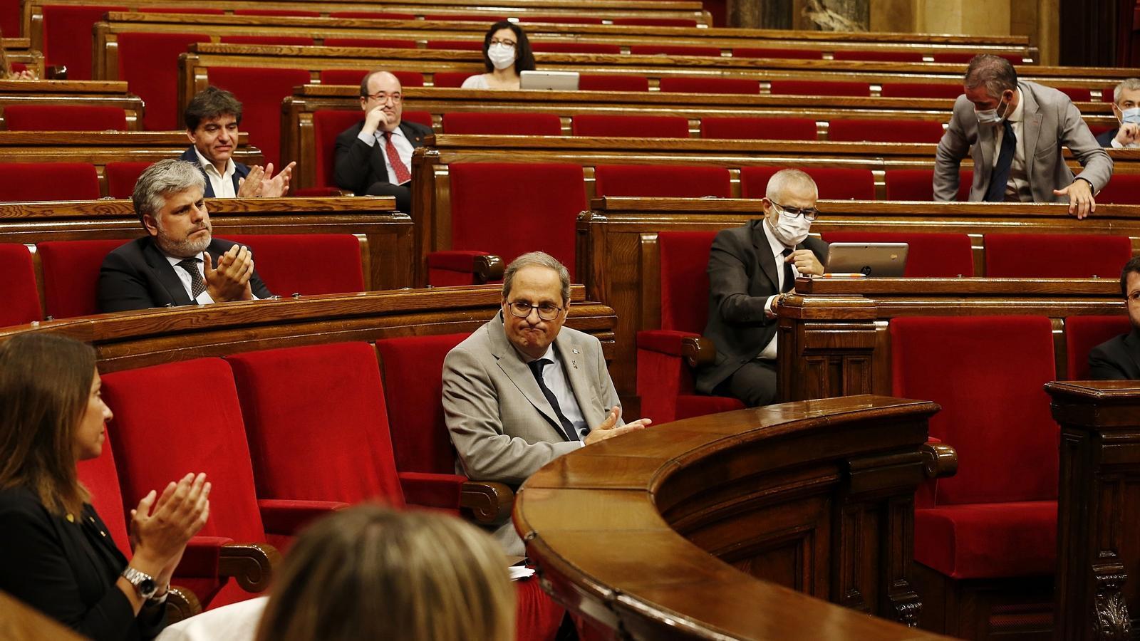 EN DIRECTE | Torra carrega contra l'Estat per la manca de recursos i anuncia que demanarà 5.000 milions a Europa