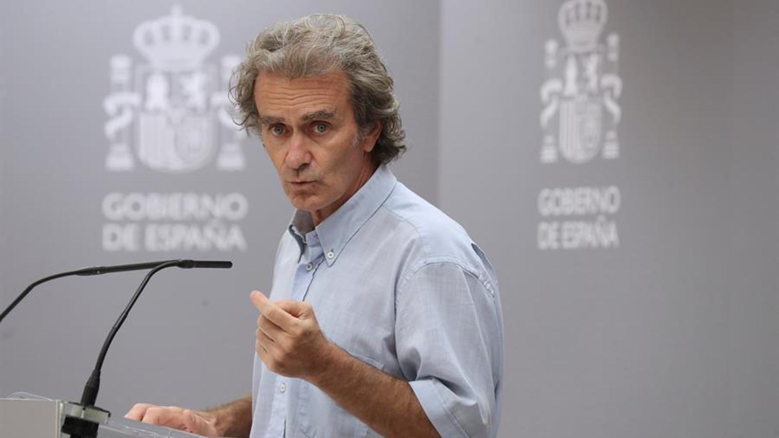 Roda de premsa del director del Centre de Coordinació d'Alertes i Emergències Sanitàries, Fernando Simón