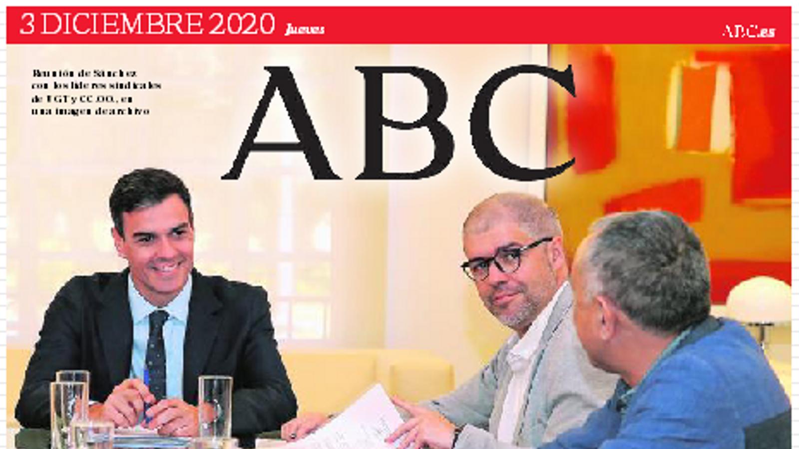 Portada 3 desembre 2020 ABC