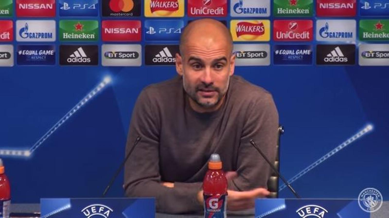 Pep Guardiola dedica el triomf del City a Sànchez i Cuixart