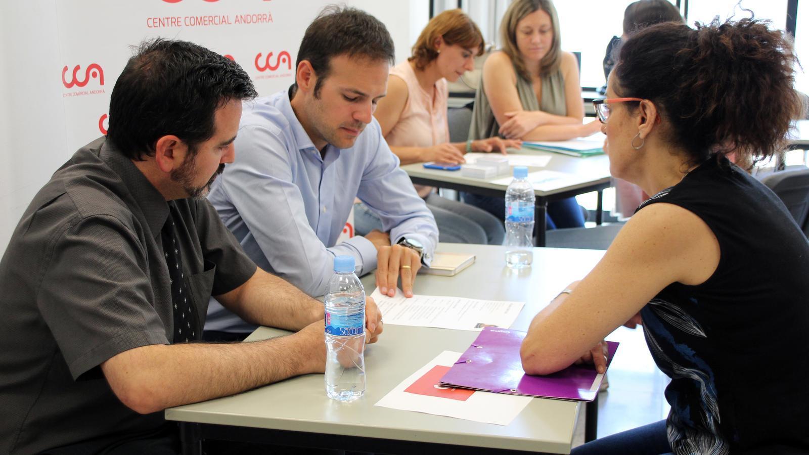 Un moment del Job Meeting celebrat a Aixovall / C.G. (ANA)