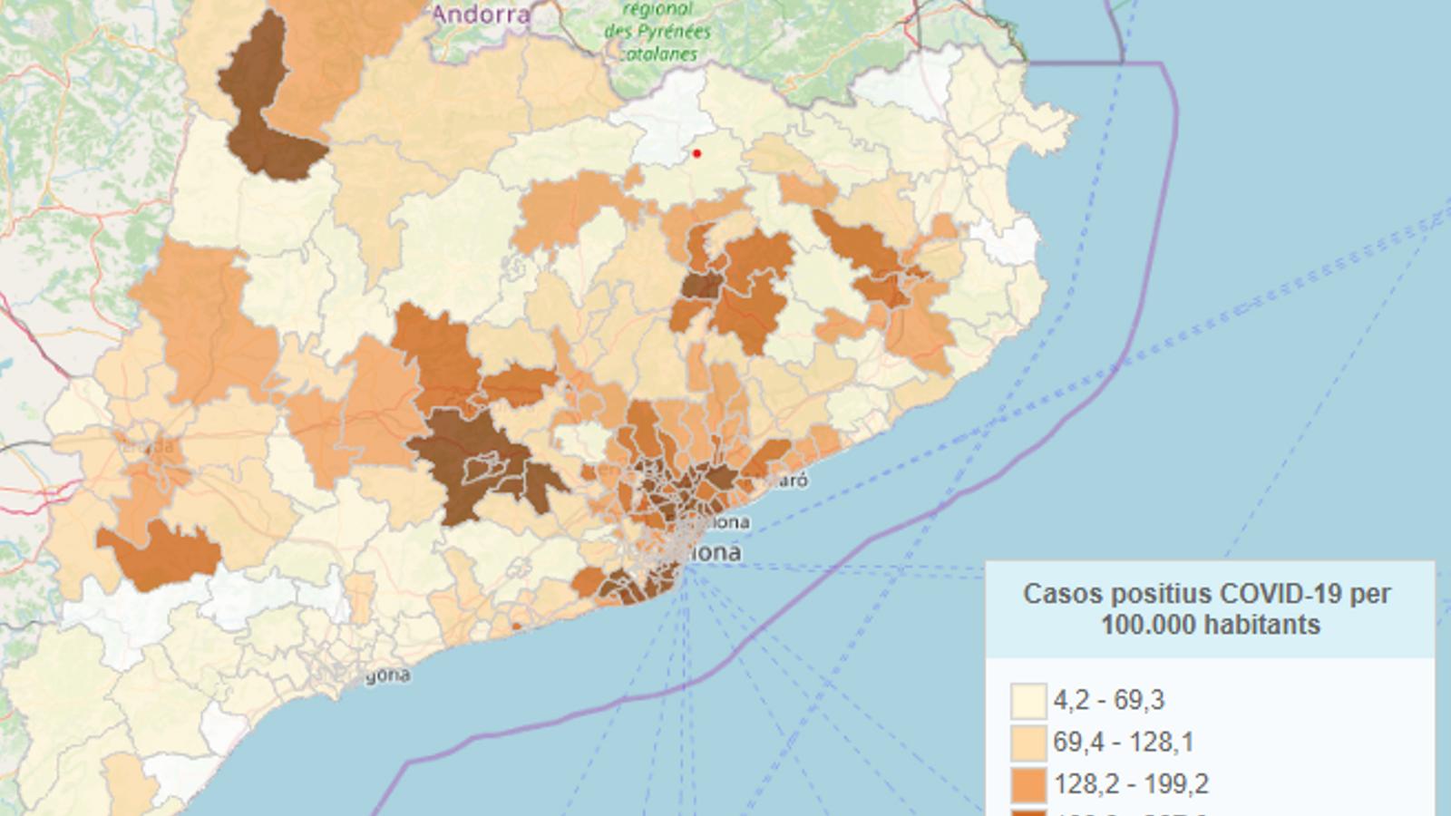 Quins són les zones de Catalunya més afectats pel coronavirus?