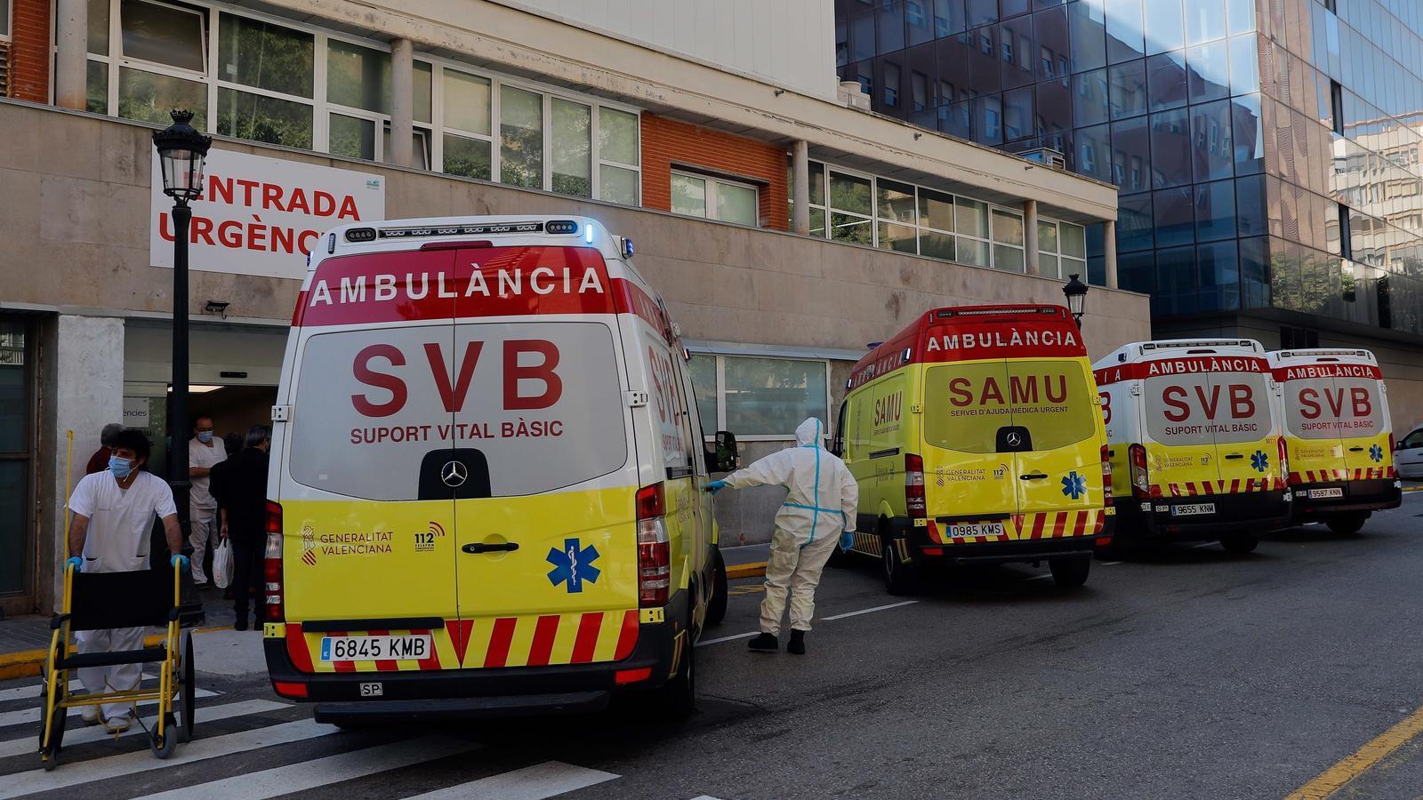 L'entrada d'urgències de l'hospital Clínic de València