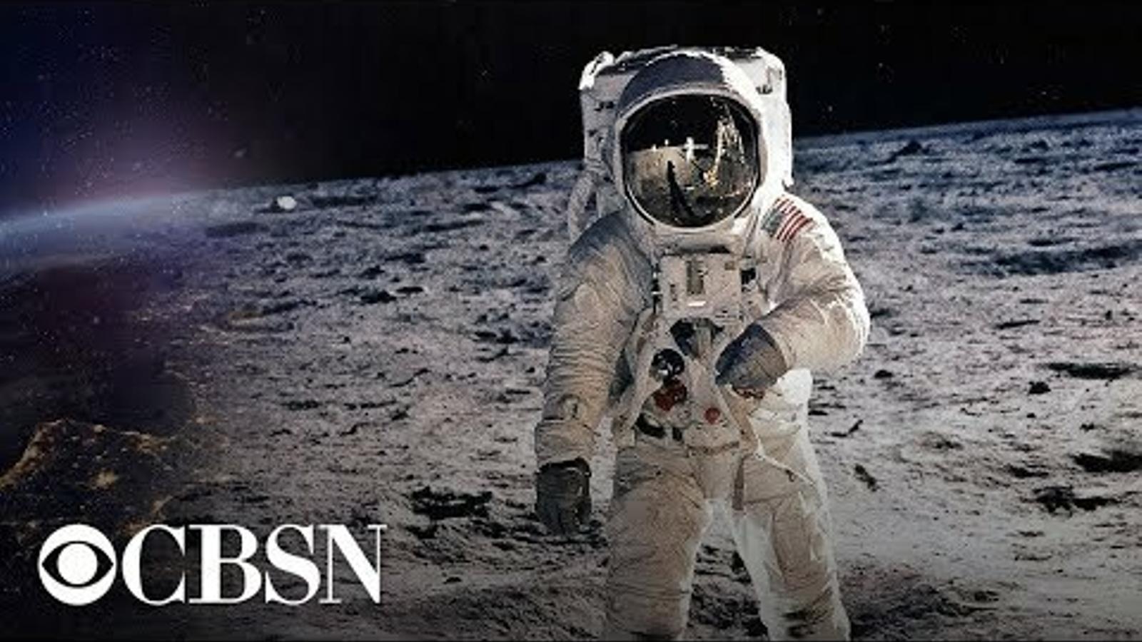 Retransmissió de la CBS de la missió Apol·lo 11 a la Lluna el 1969.