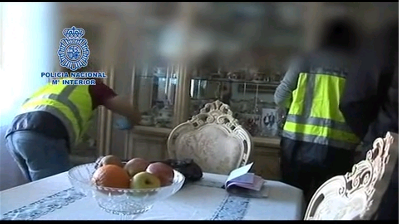 Vídeo de l'operació policial que va acabar amb la detenció dels acusats