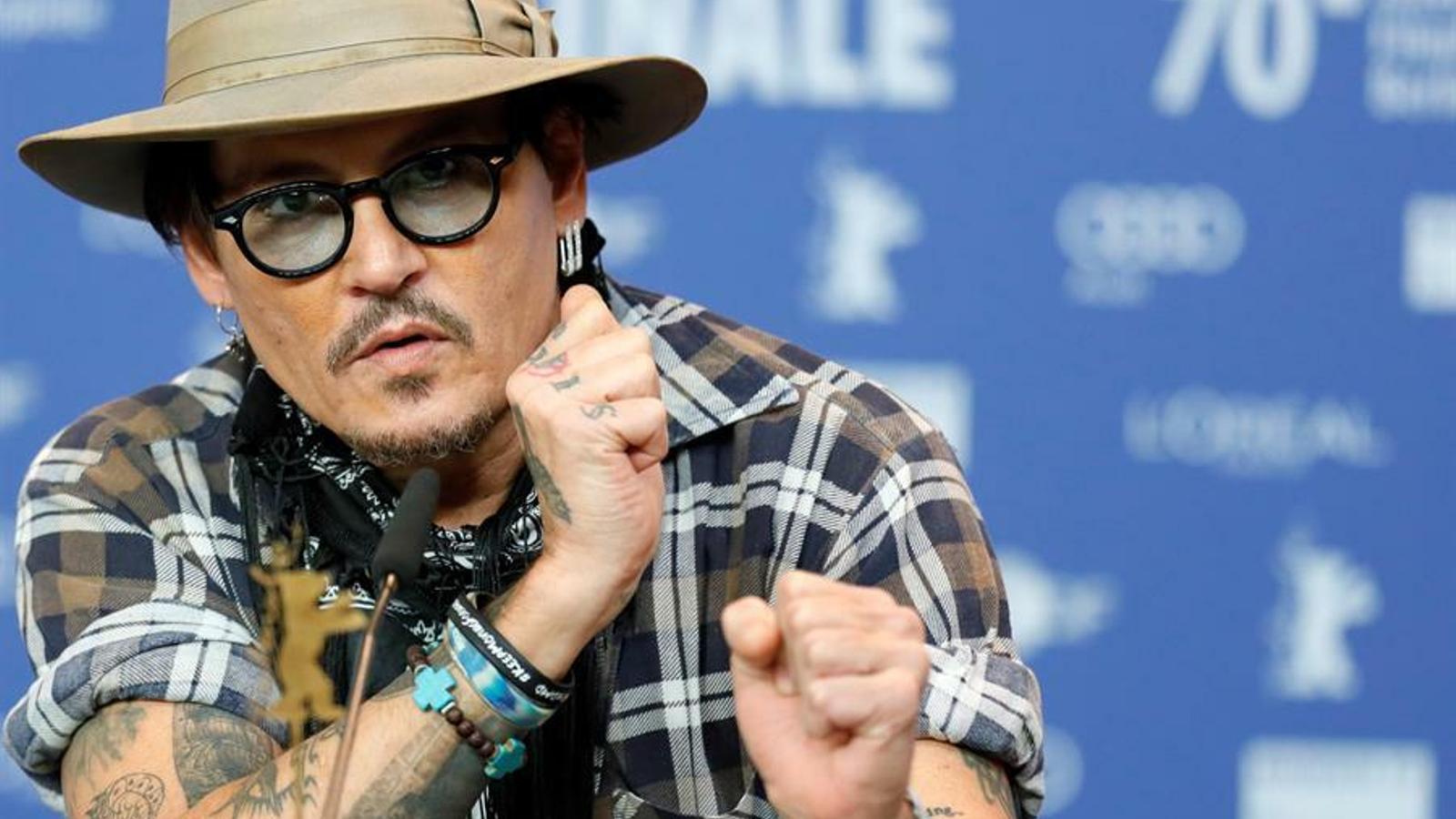 Johnny Depp al Festival de Berlín presentant 'Minamata'