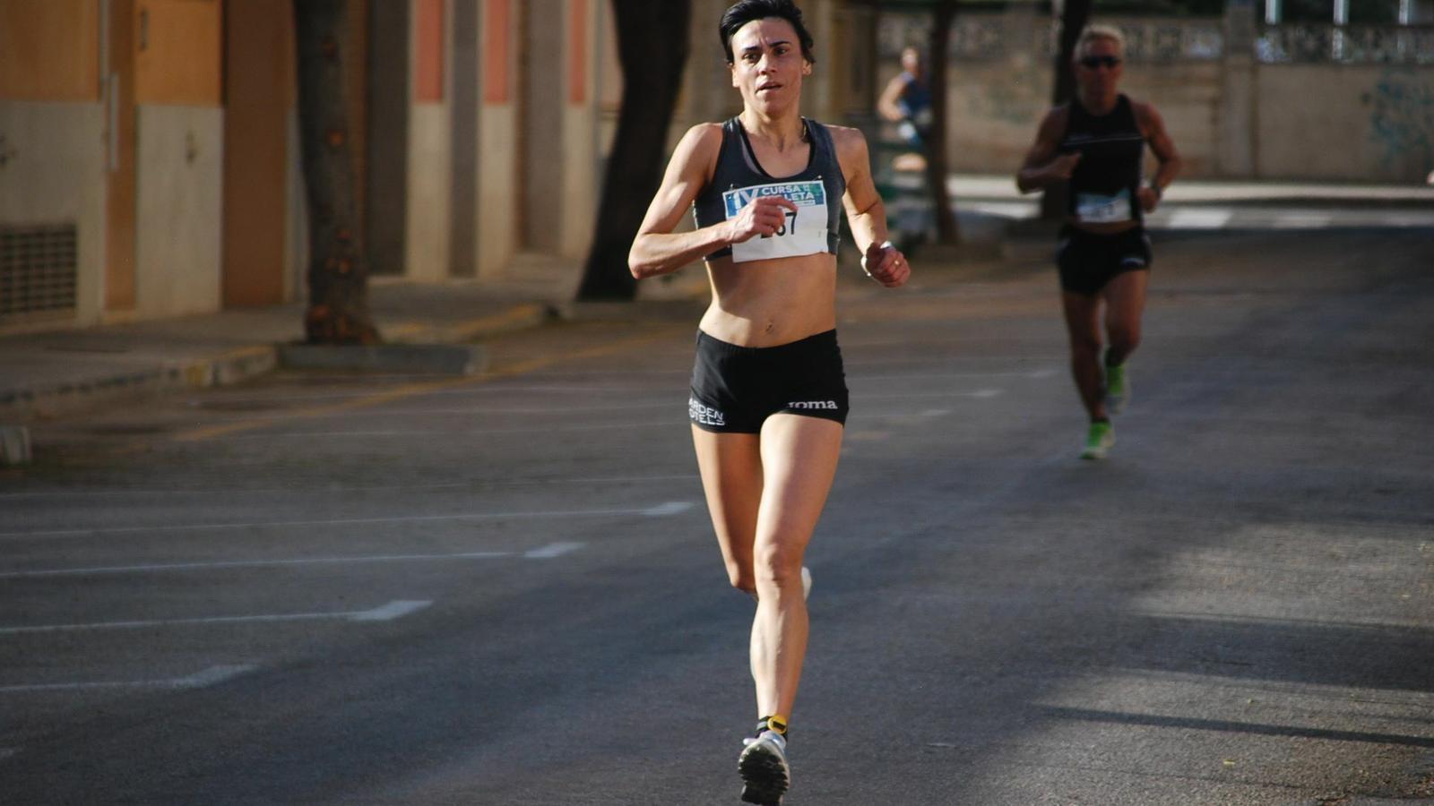 Sebastiana Llabrés a una cursa popular