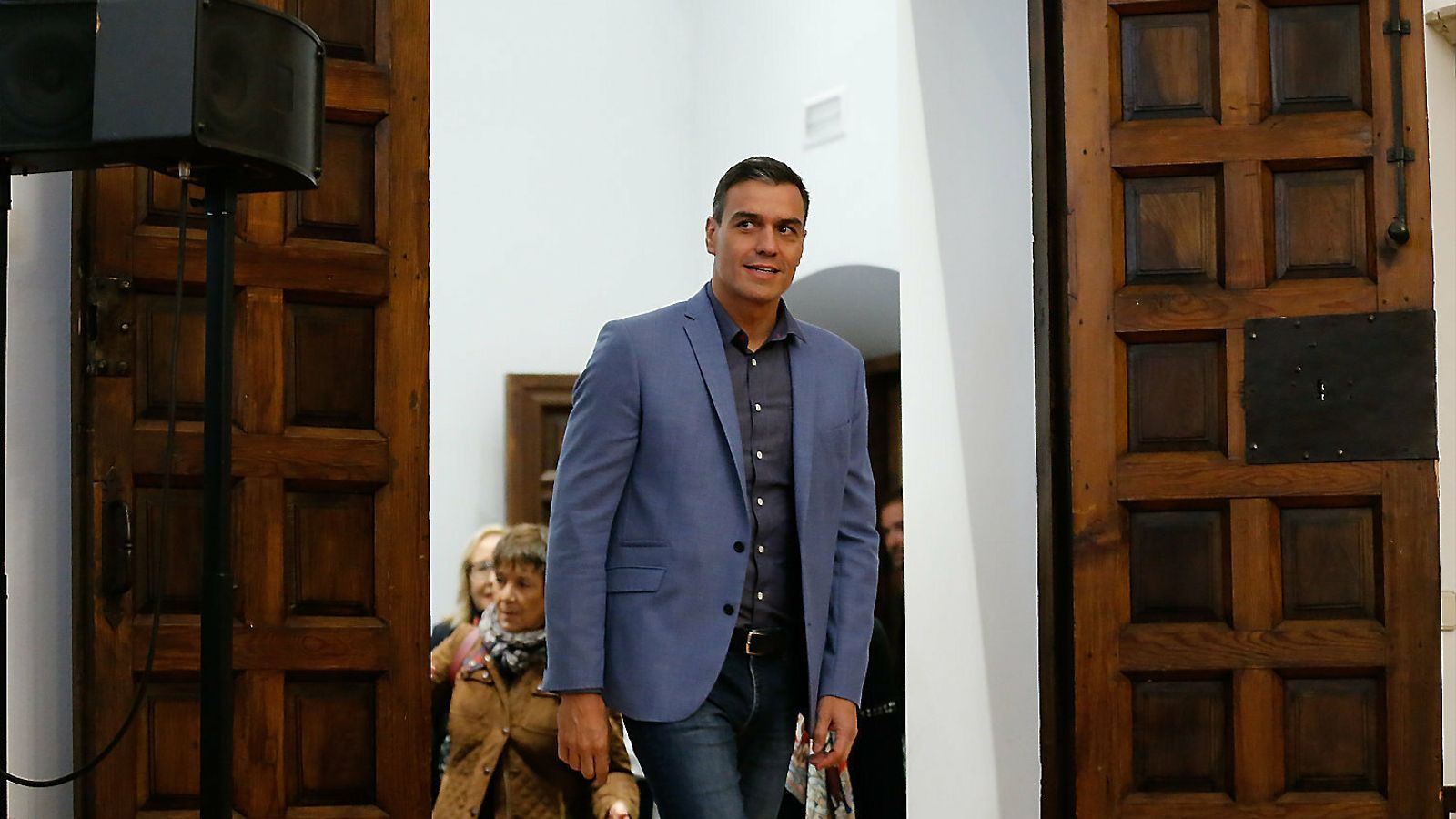 El president del govern espanyol en funcions i líder del PSOE, Pedro Sánchez, ahir en un acte preelectoral a Salamanca.