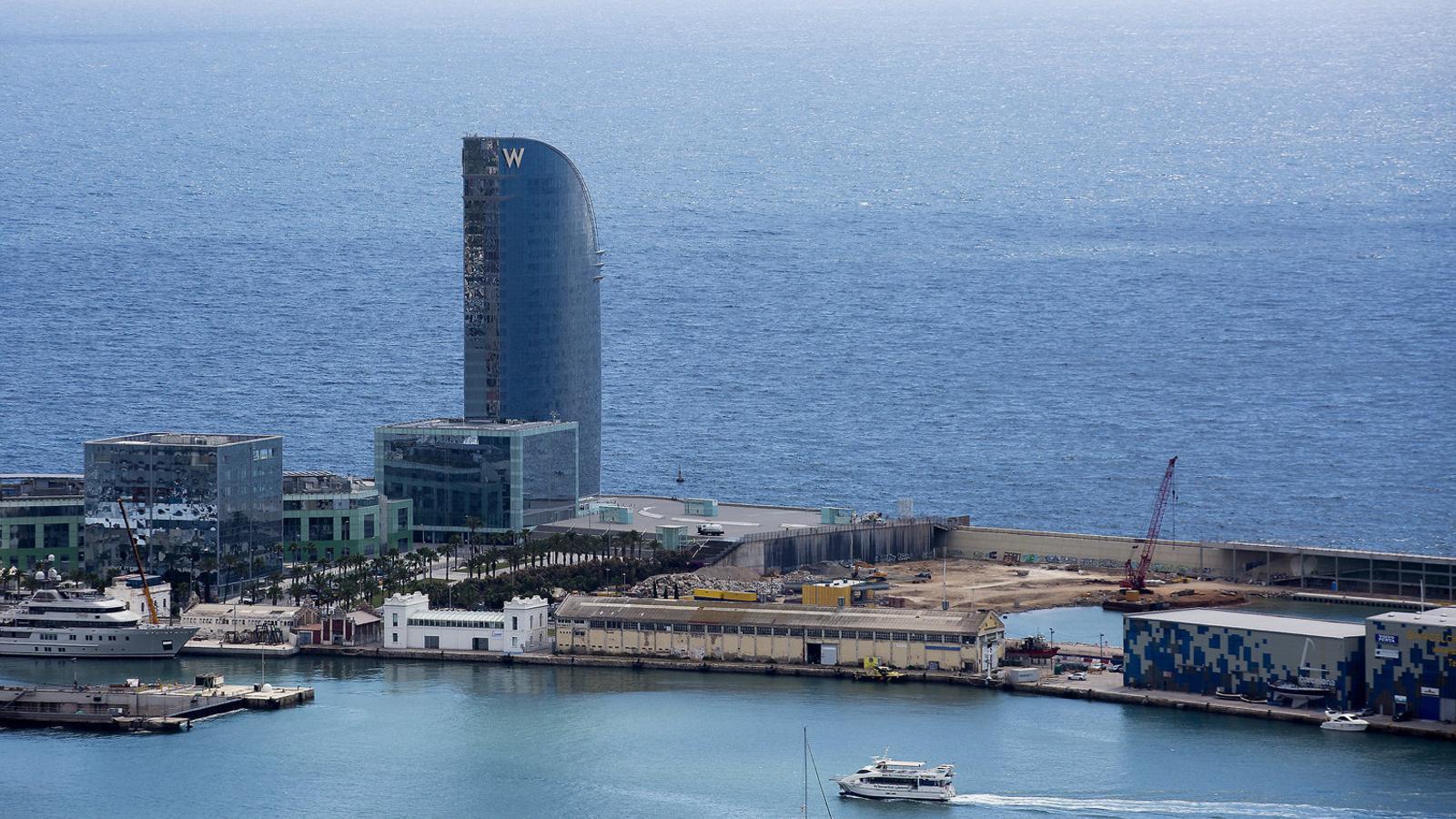 El Port de Barcelona s'ha fet càrrec de la infraestructura i l'ordenació interna necessàries perquè el Museu Hermitage es pugui ubicar a la zona de la nova bocana pròxima a l'Hotel W.
