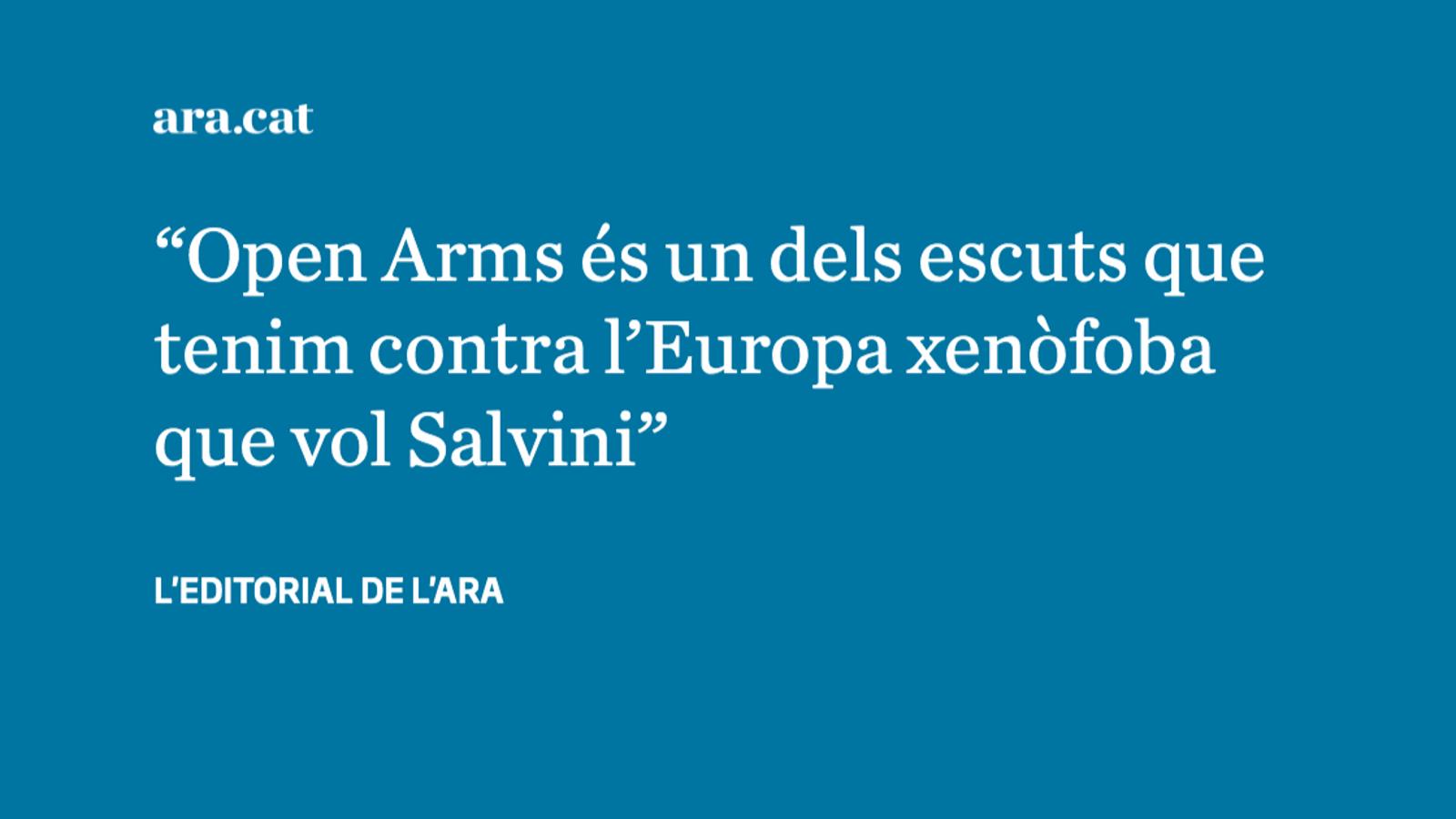 Els migrants de l''Open Arms' i l'electoralisme de Salvini