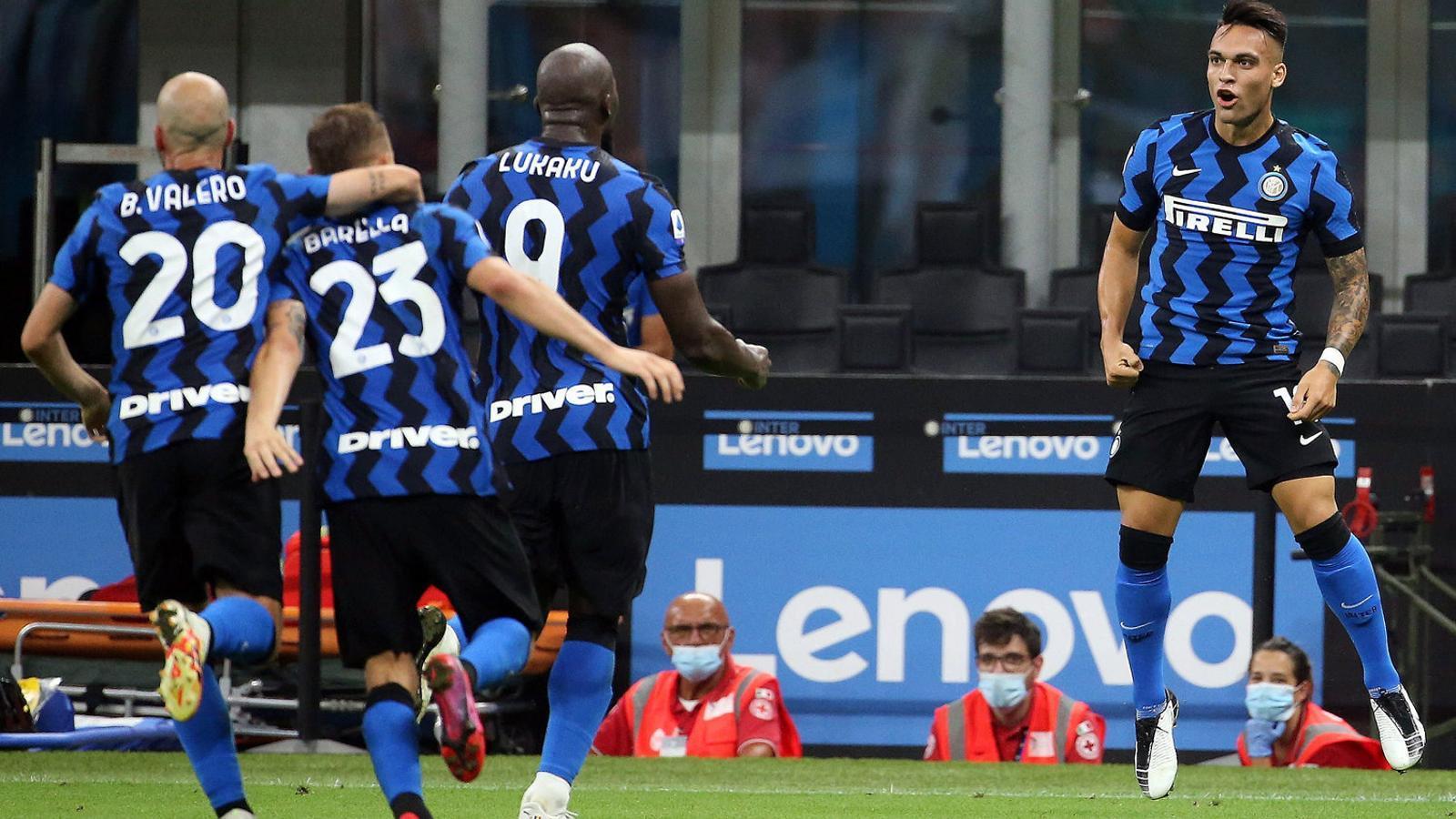 Lautaro Martínez jugarà avui els quarts de final de l'Europa League amb l'Inter de Milà.