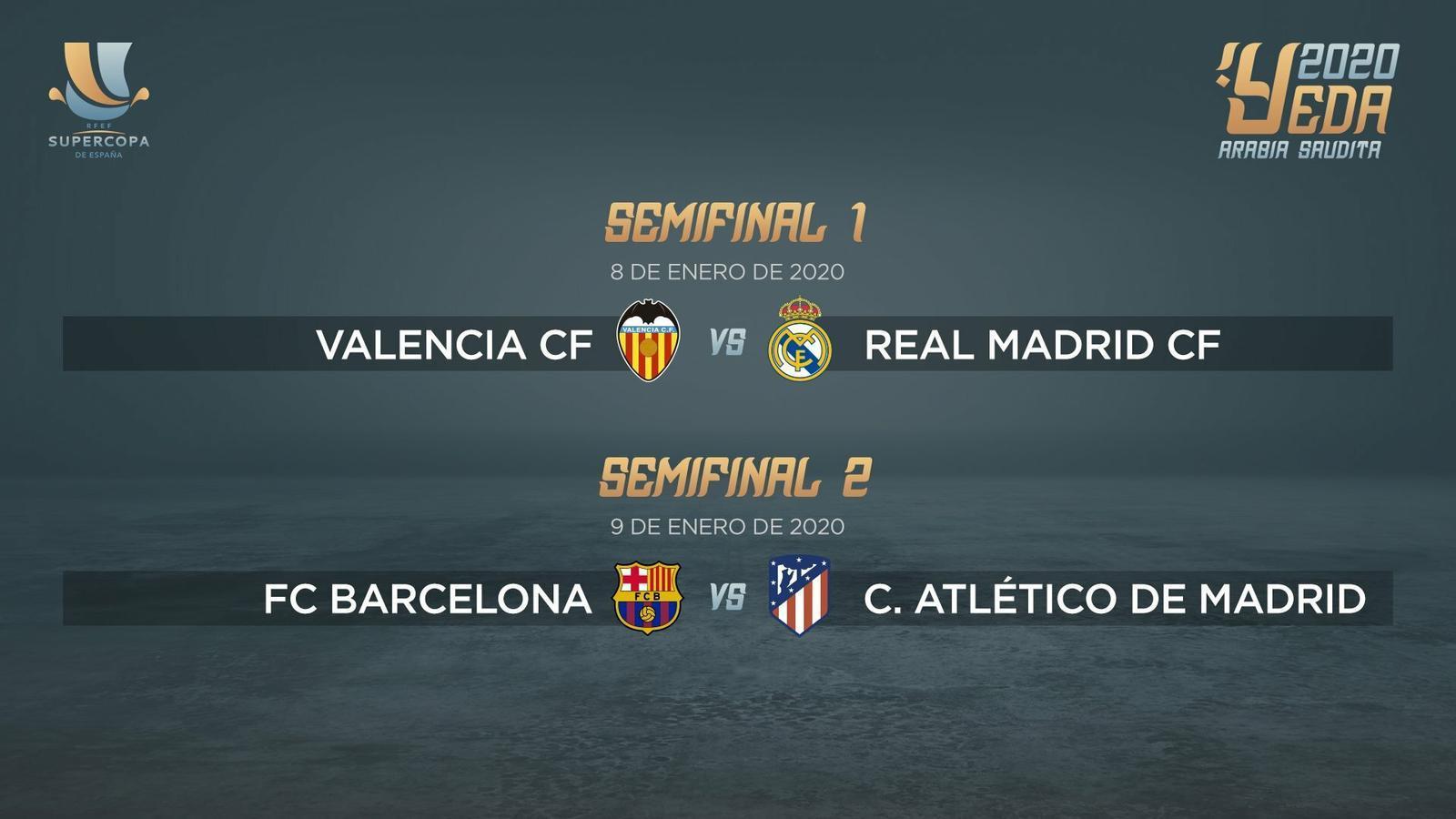 Barça - Atlètic de Madrid a la semifinal de la Supercopa d'Espanya