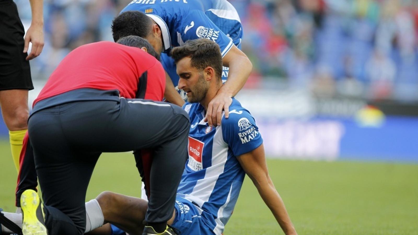 Baptistão va lesionar-se a la cuixa contra el València
