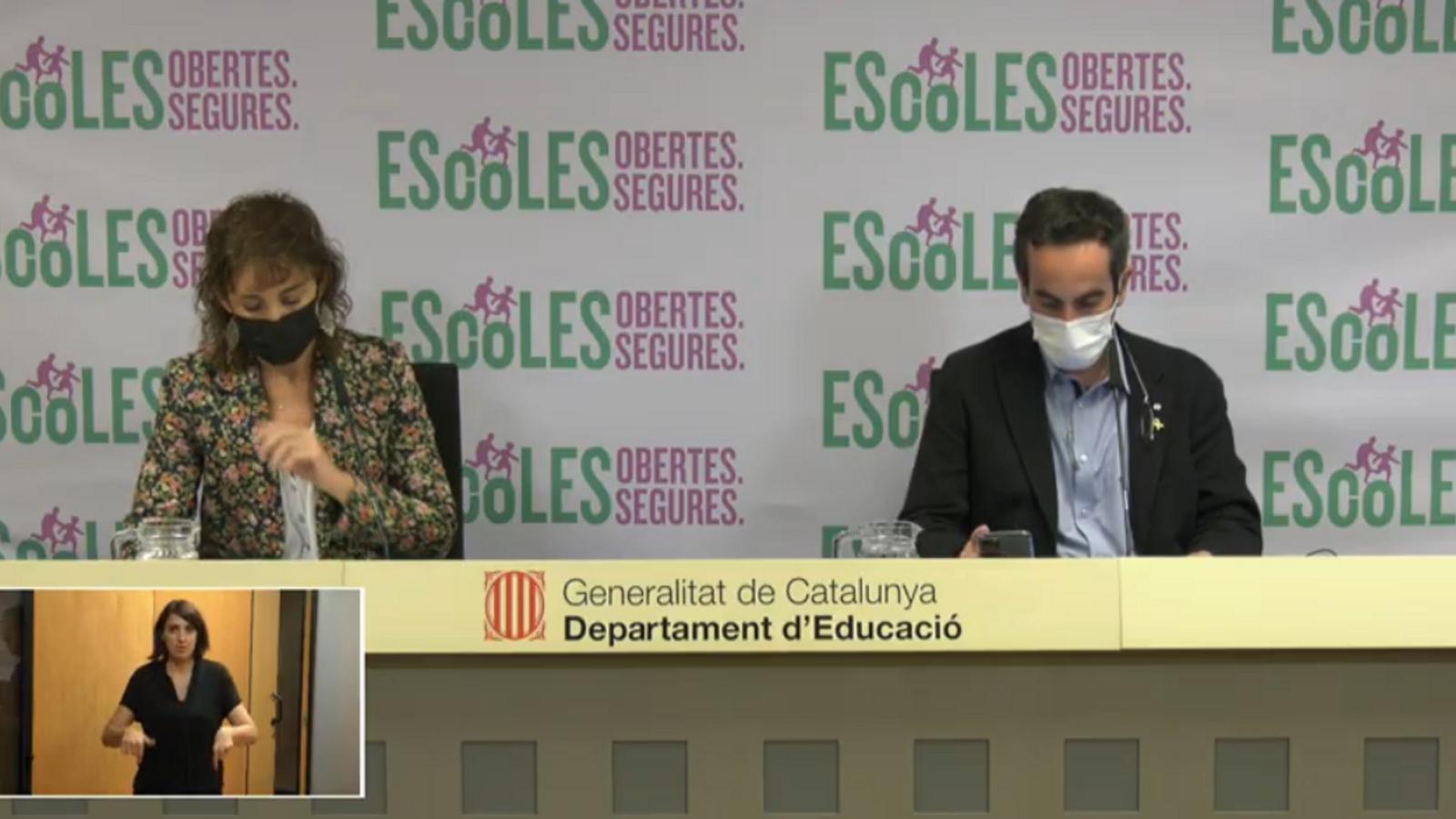 EN DIRECTE | Roda de premsa per informar de la situació del covid-19 a les escoles
