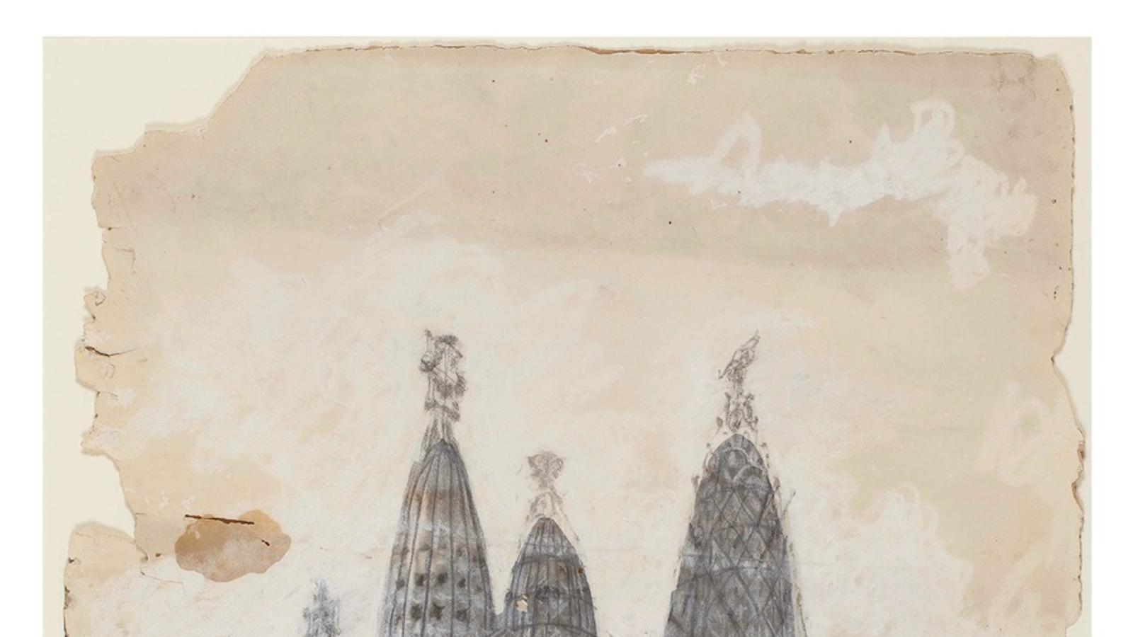 Croquis de l'exterior de l'església de la Colònia Güell, de Gaudí / BALCLI'S