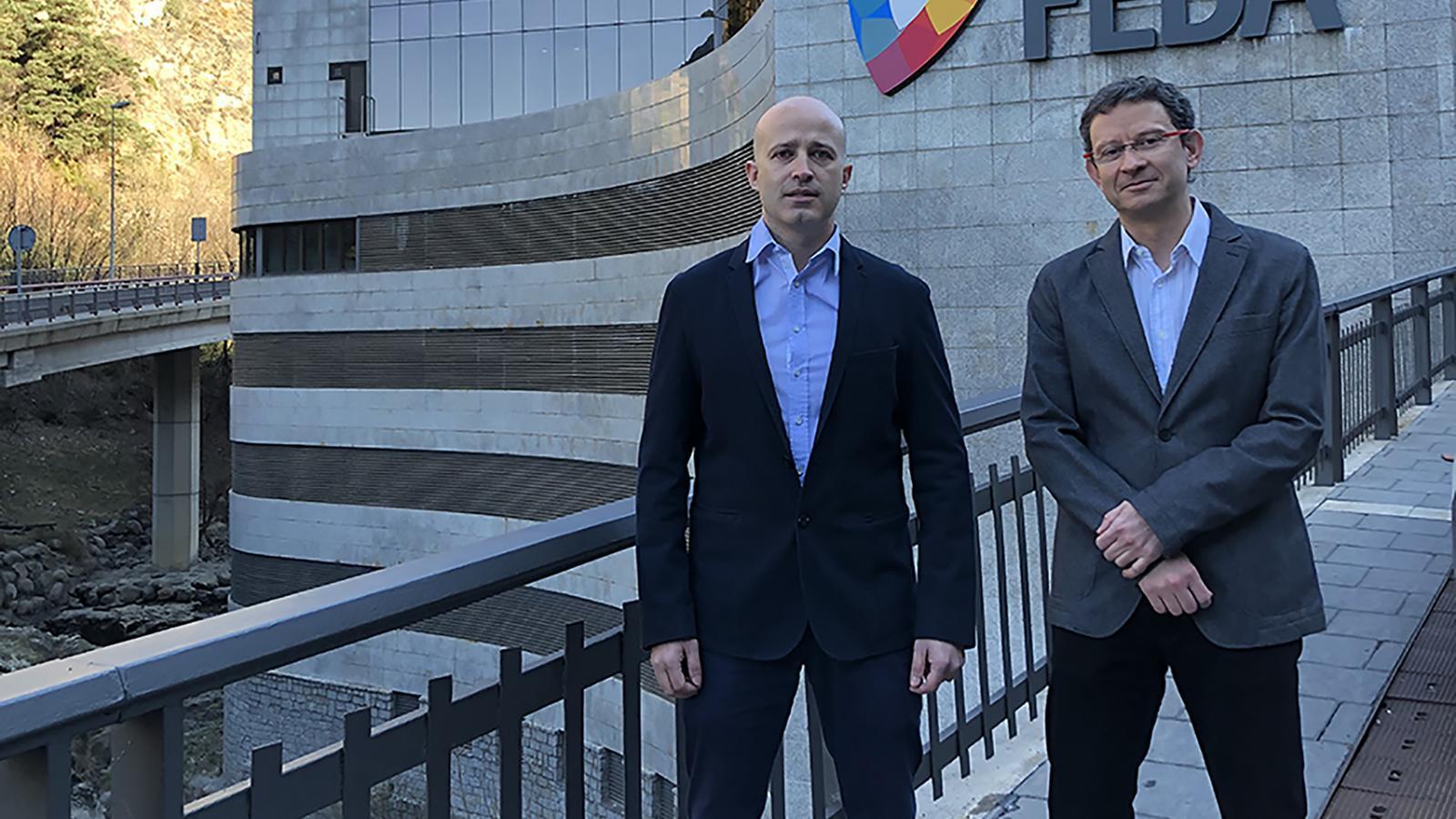 Els gerents de les societats, Jordi Travé i Xavier Forné. / FEDA