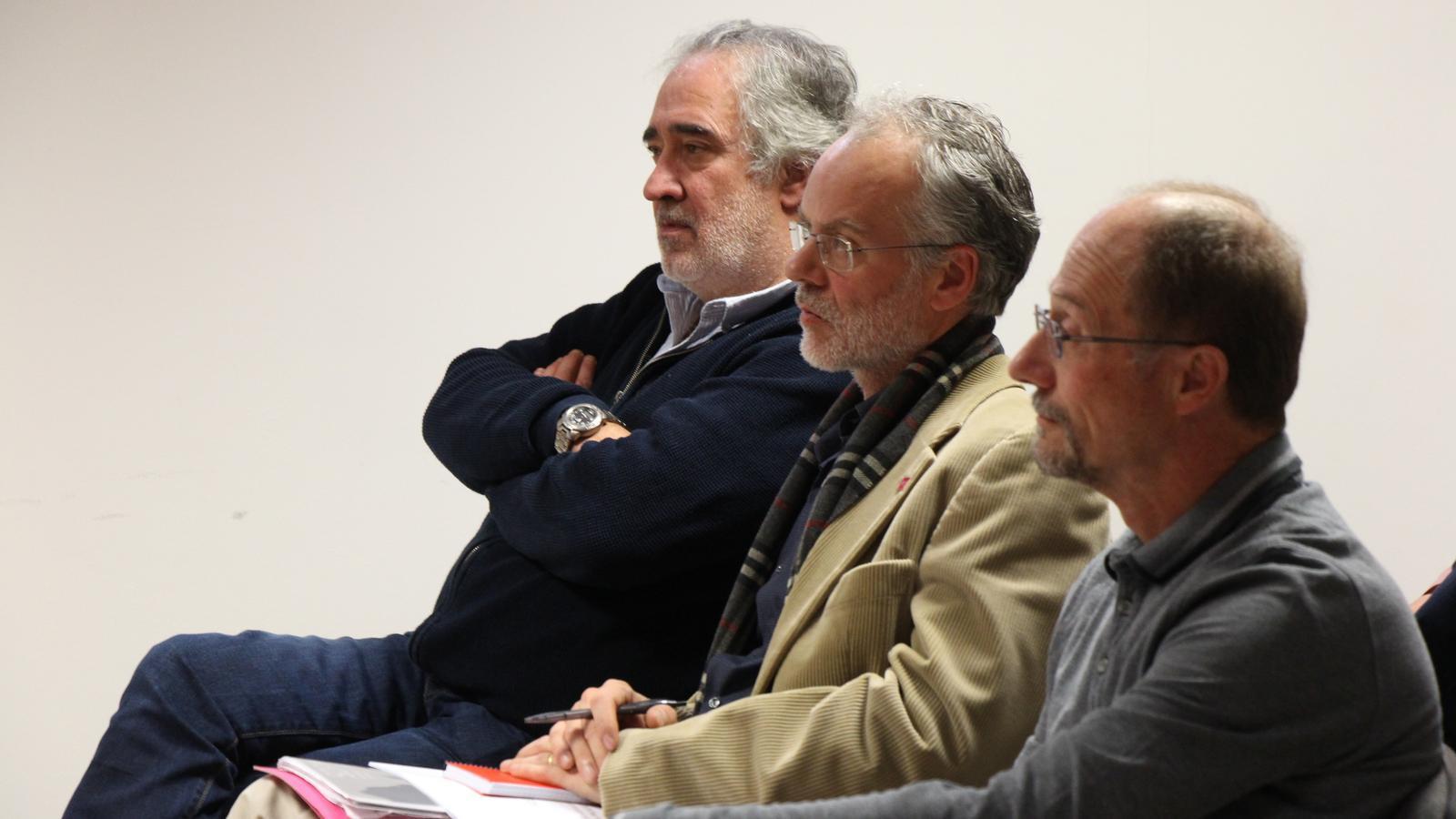 El futur candidat d'SDP, Josep Roig, durant la celebració del consell nacional de Progressistes-SDP. / M. M.