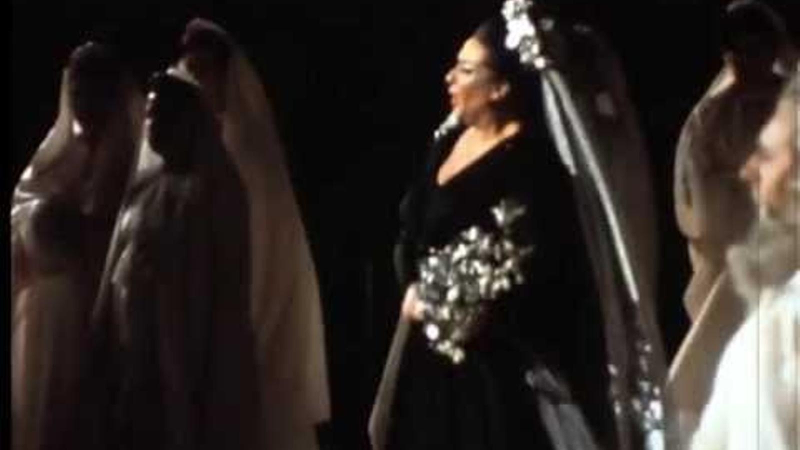 Montserrat Caballé interpretant 'Casta Diva' de Bellini