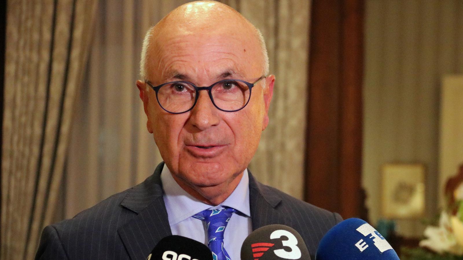 Josep Antoni Duran i Lleida en un acte a l'ambaixada d'Espanya a Bèlgica