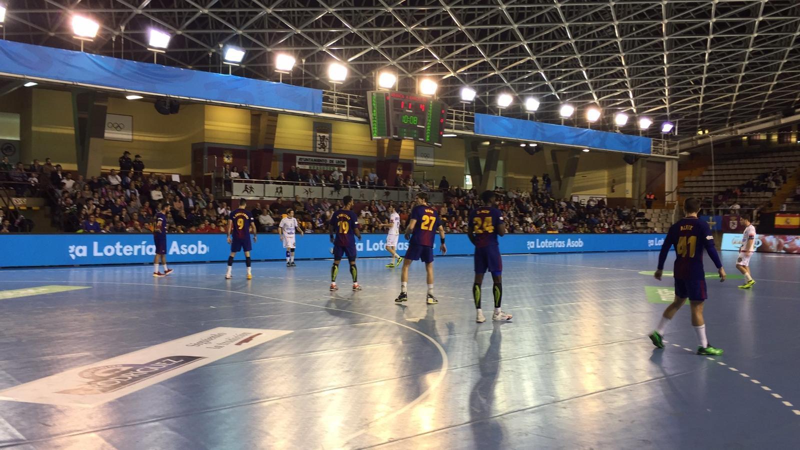 El Barça d'handbol a Lleó
