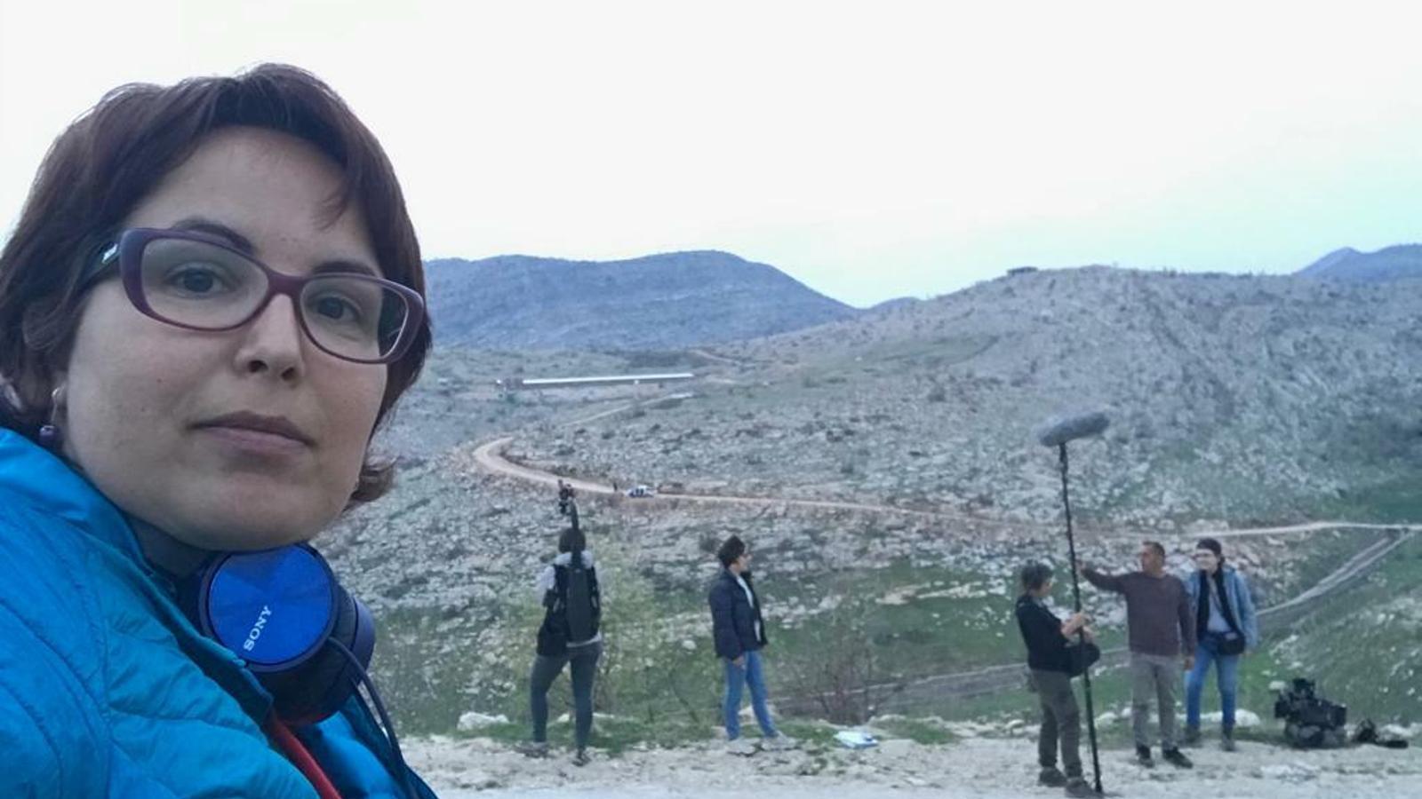 Anna Bofarull i l'equip de 'Sinjar' rodant al Kurdistan iraquià