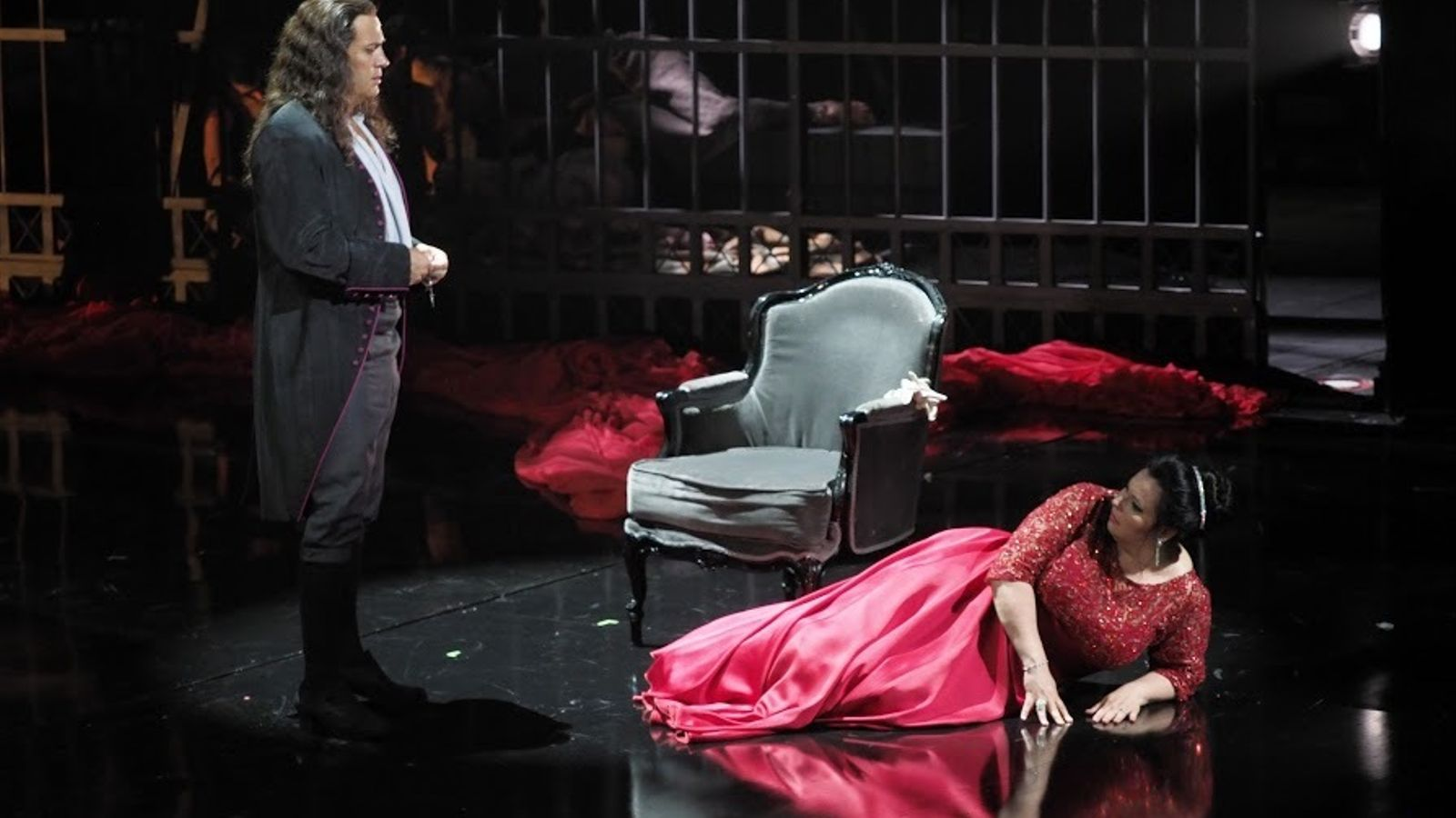 El baríton Erwin Schrott i la soprano Liudmyla Monastyrska a 'Tosca', al Liceu