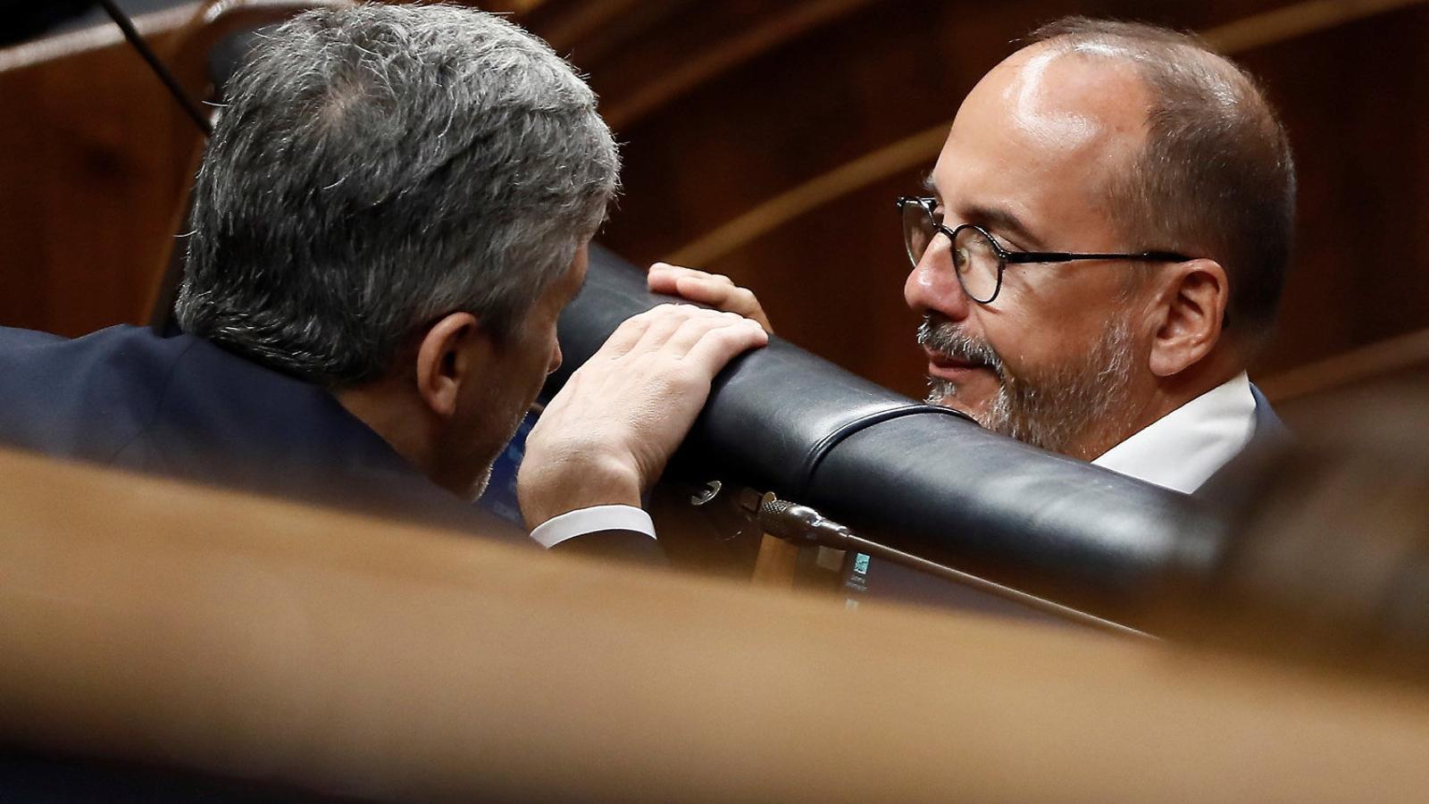 El portaveu del PDECat a Madrid, Carles Campuzano, a la bancada del Congrés