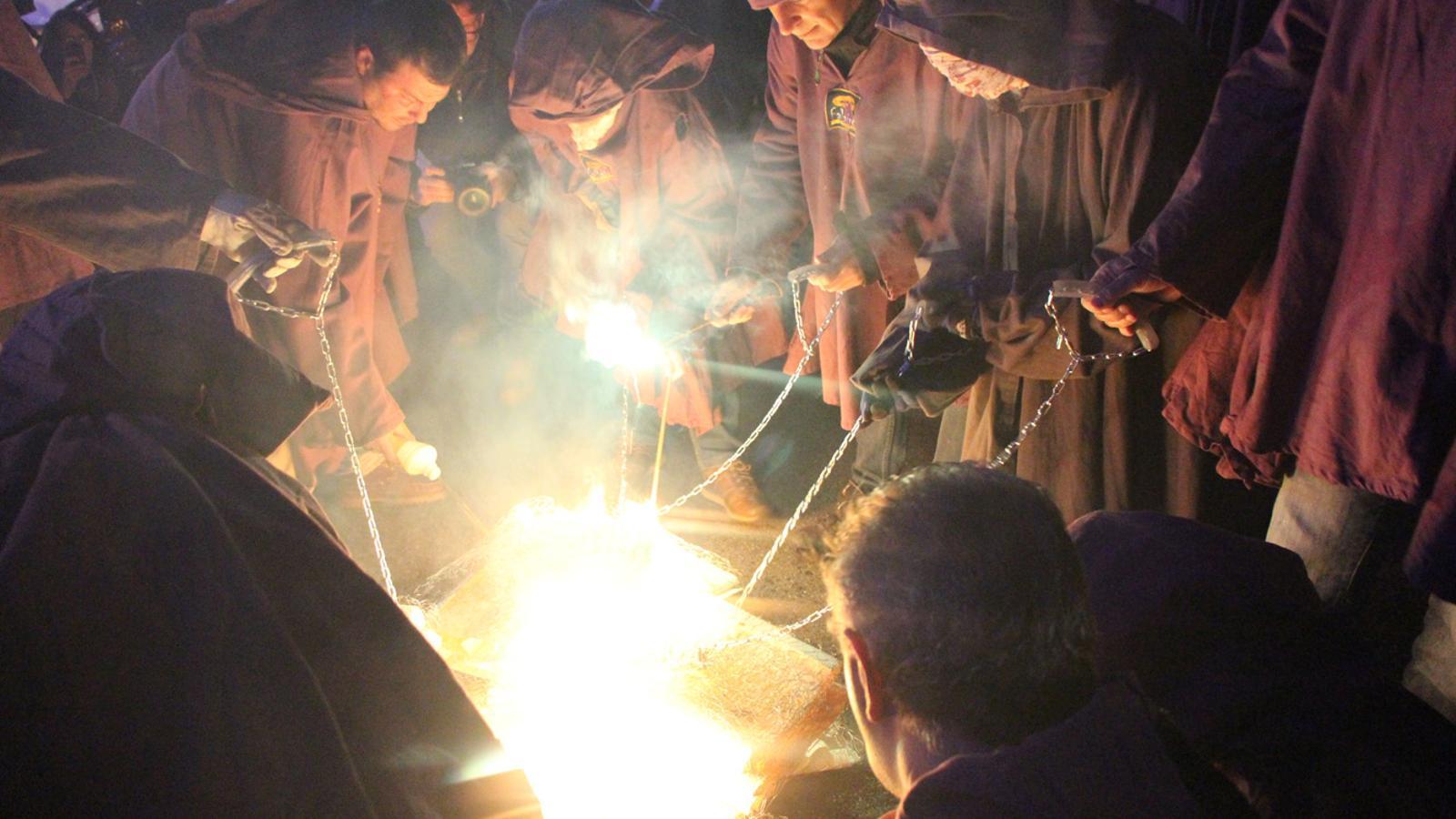 Un moment de la celebració organitzada per l'Associació de Fallaires d'Andorra la Vella / B.N. (ANA)