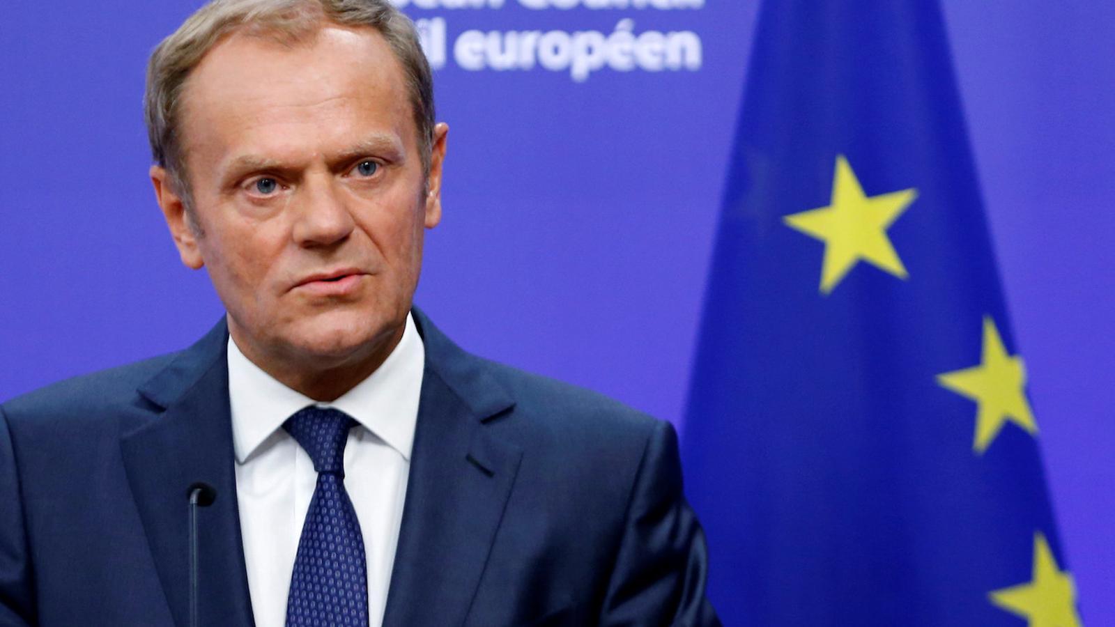Donald Tusk, president del Consell Europeu, valorant el 'Brexit'