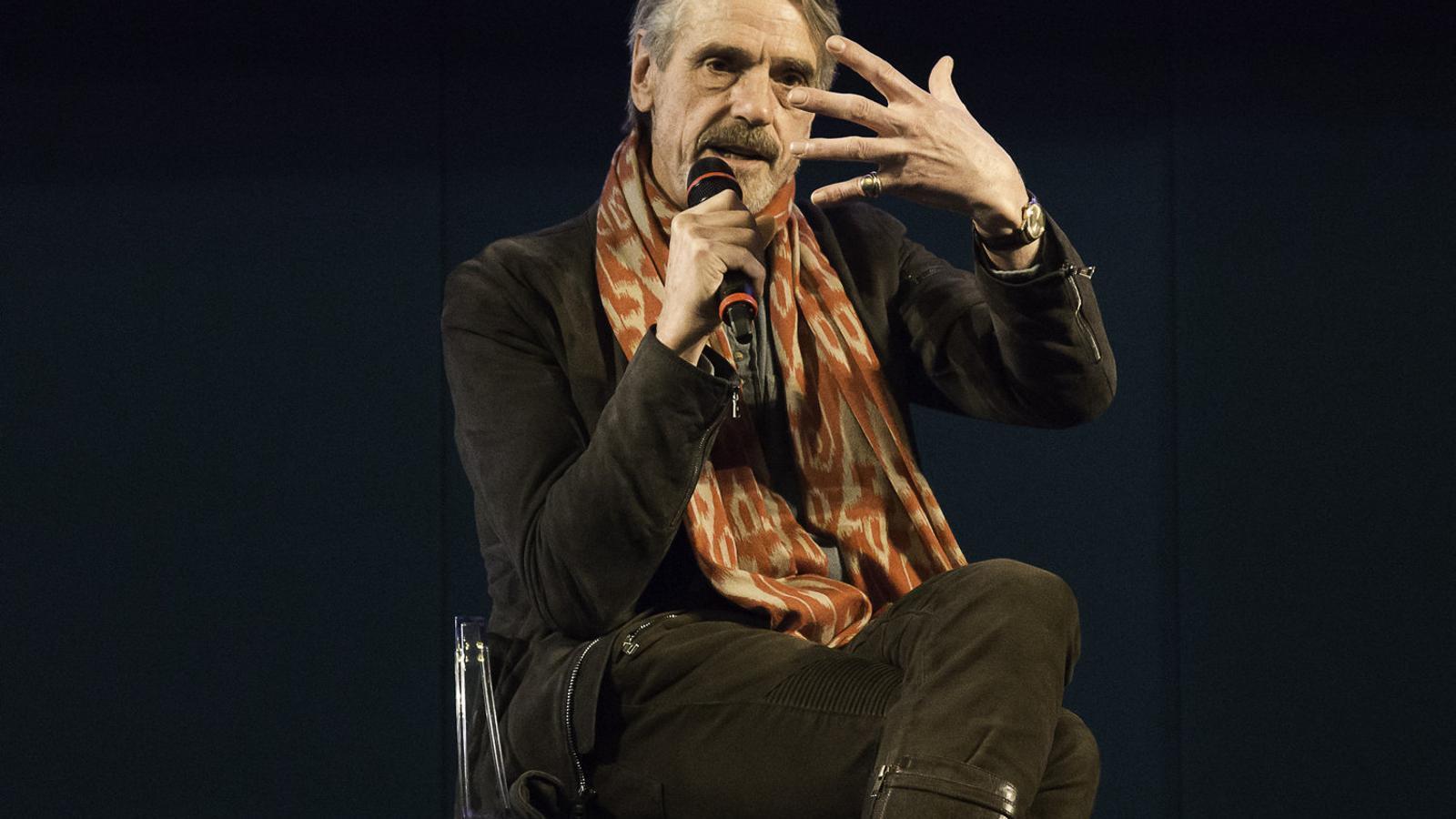L'intèrpret Jeremy Irons va ser un dels homenatjats de la setzena edició del Premi Europa.
