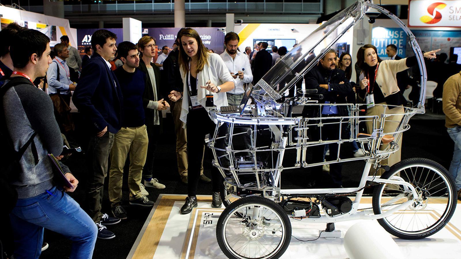L'estand d'Actua a l'Smart City Expo World Congress. / EFE