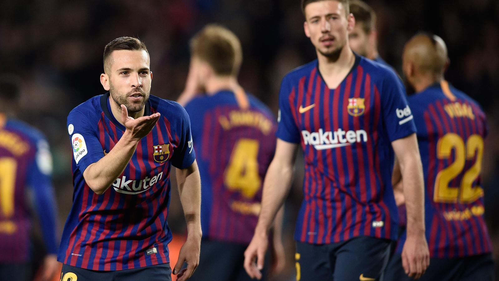 Lenglet i Jordi Alba també volen la Lliga (2-1)