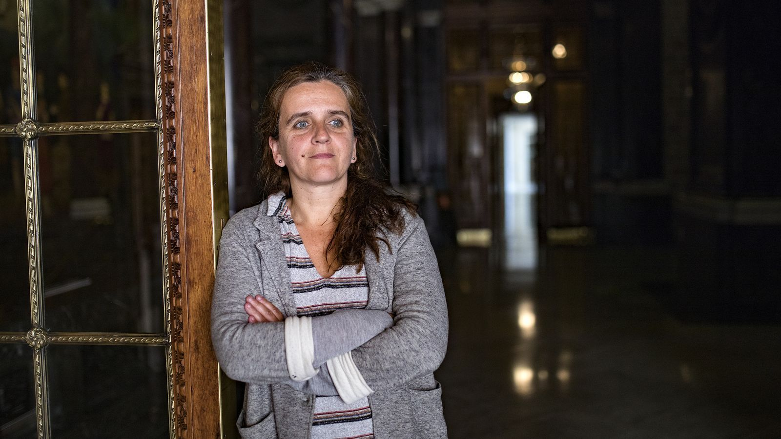 Gemma Tarafa, aquest matí a l'Ajuntament