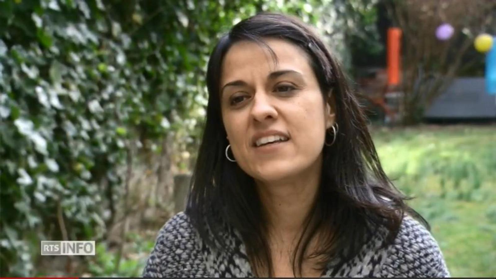 Captura de vídeo de l'entrevista que l'exdiputada Anna Gabriel ha concedit al canal RTS