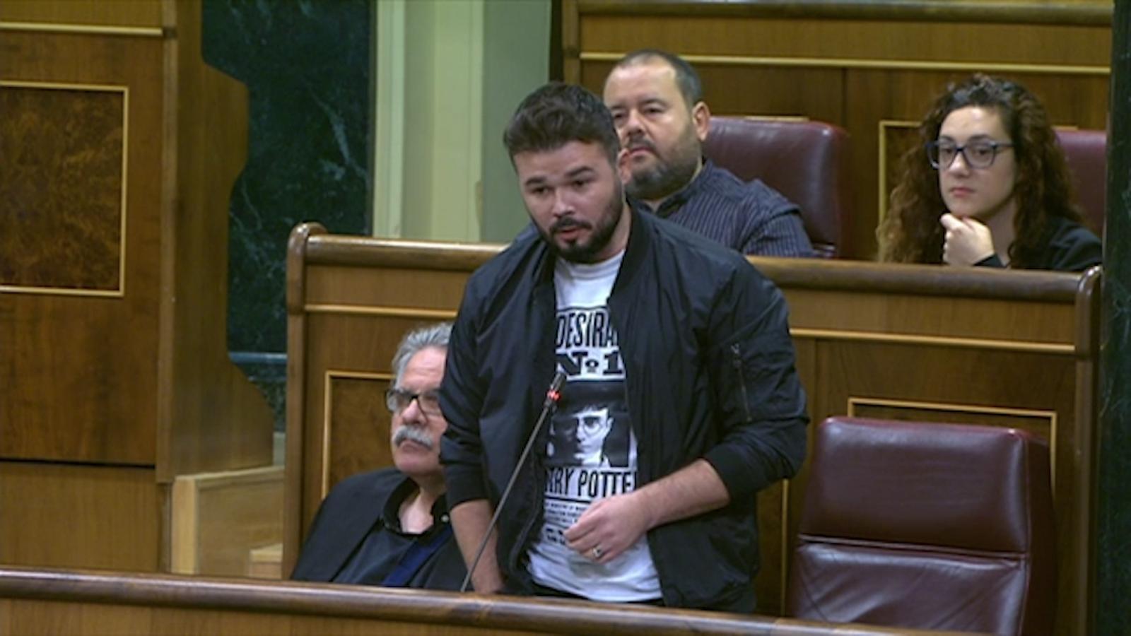 """Rufián: """"Votar l'1 d'octubre no et fa independentista, sinó demòcrata, valent i antifeixista"""""""