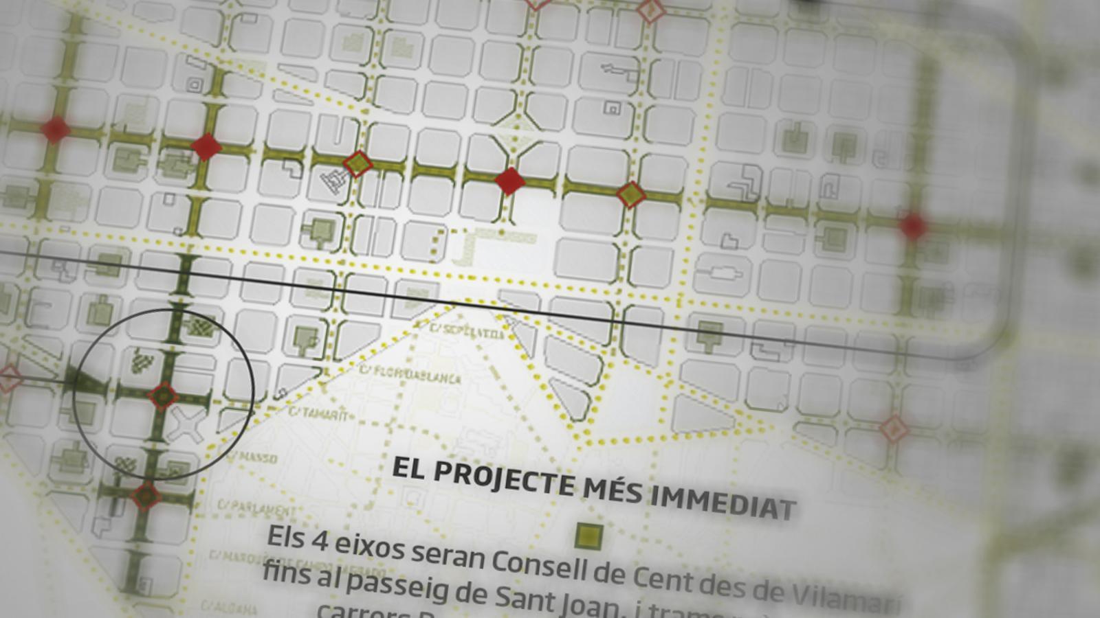 Barcelona engega el pla per pacificar un de cada tres carrers de l'Eixample en deu anys