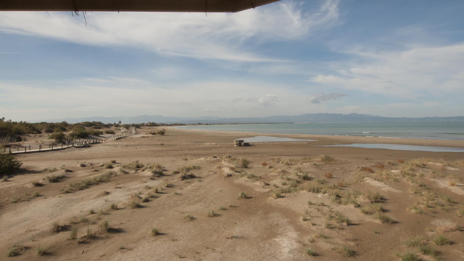 La línia de costa davant de Riumar, a Deltebre / TJERK VAN DER MEULEN